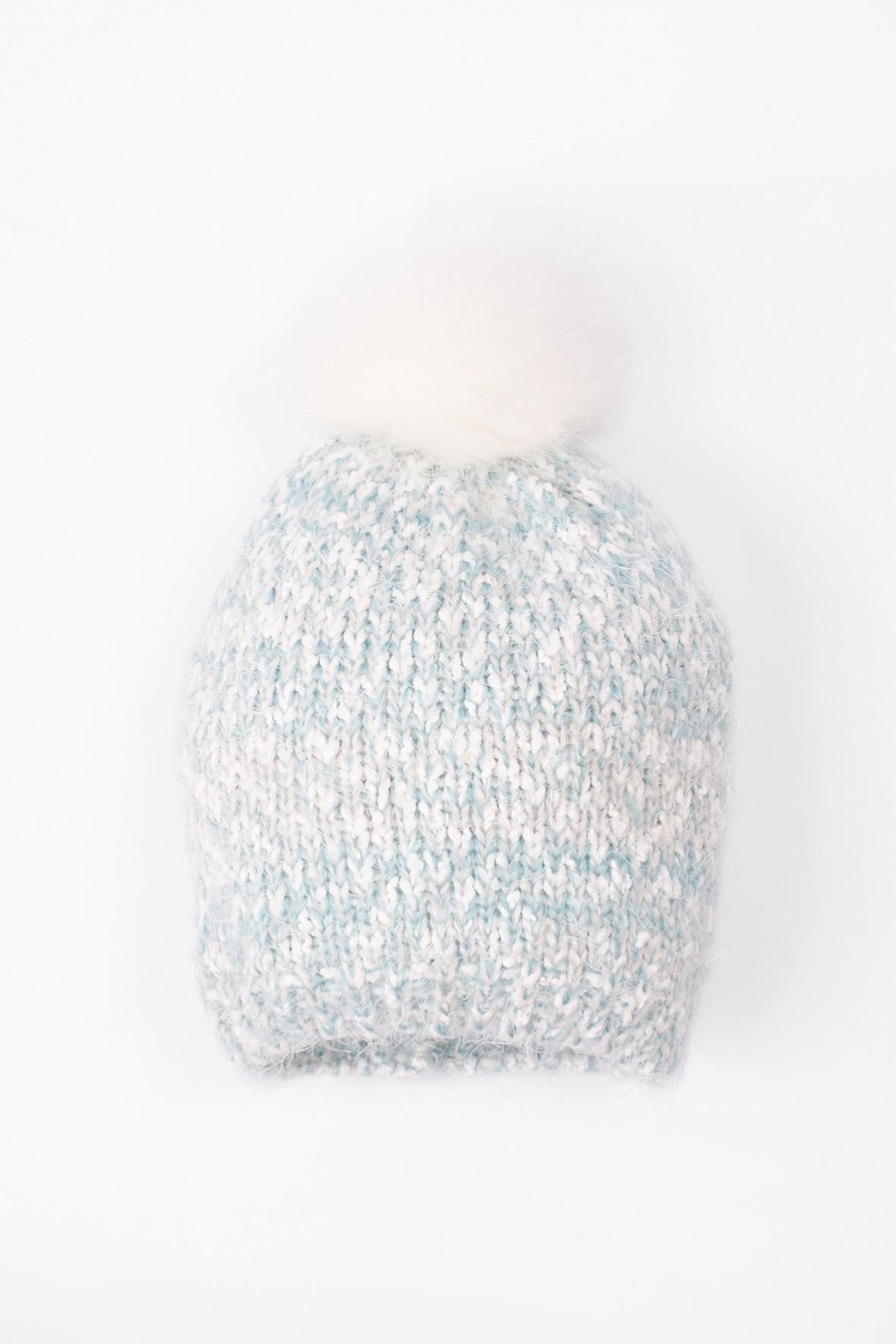 Czapka zimowa dla dziewczynki- niebieska