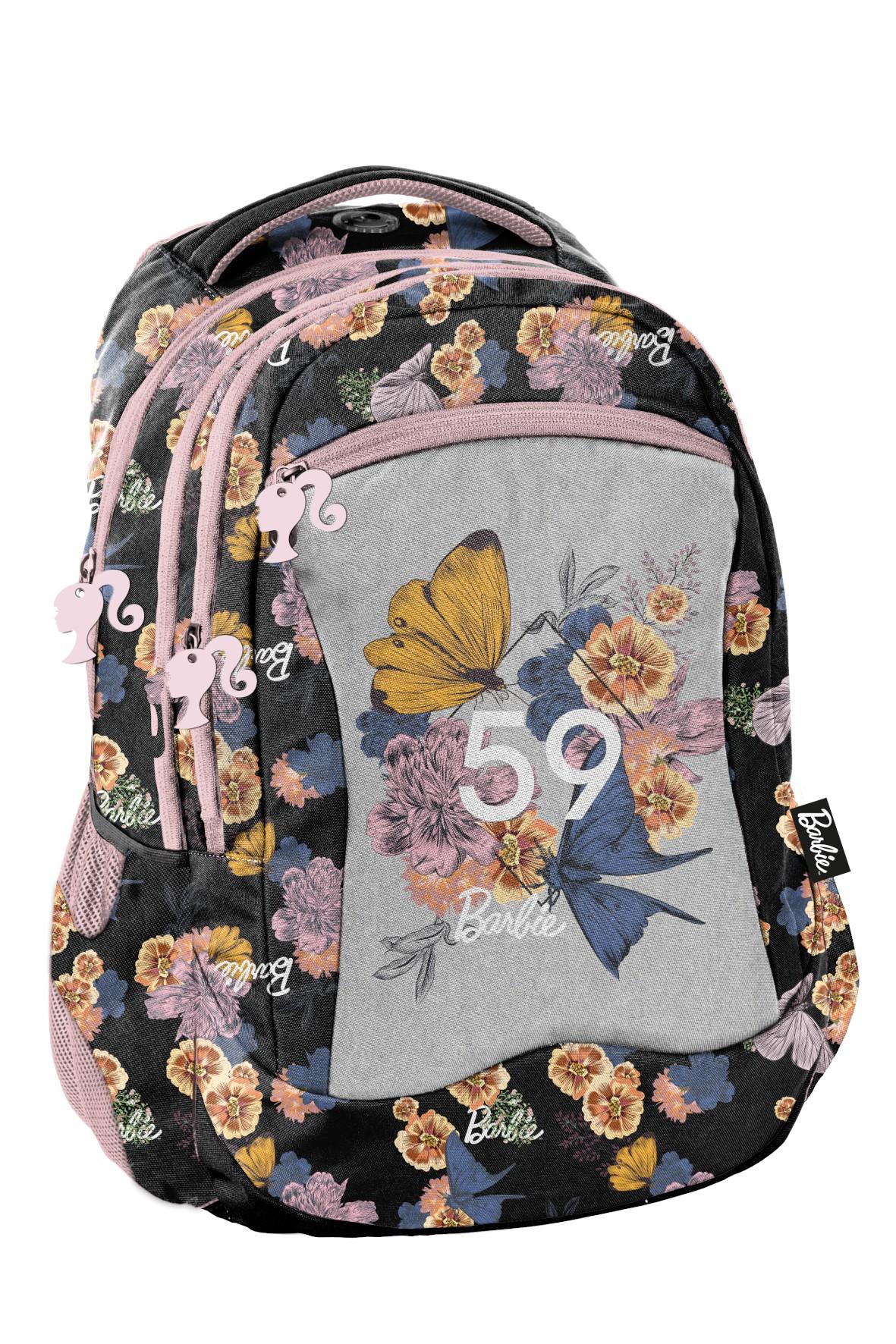 Plecak szkolny w kwiaty, Barbie