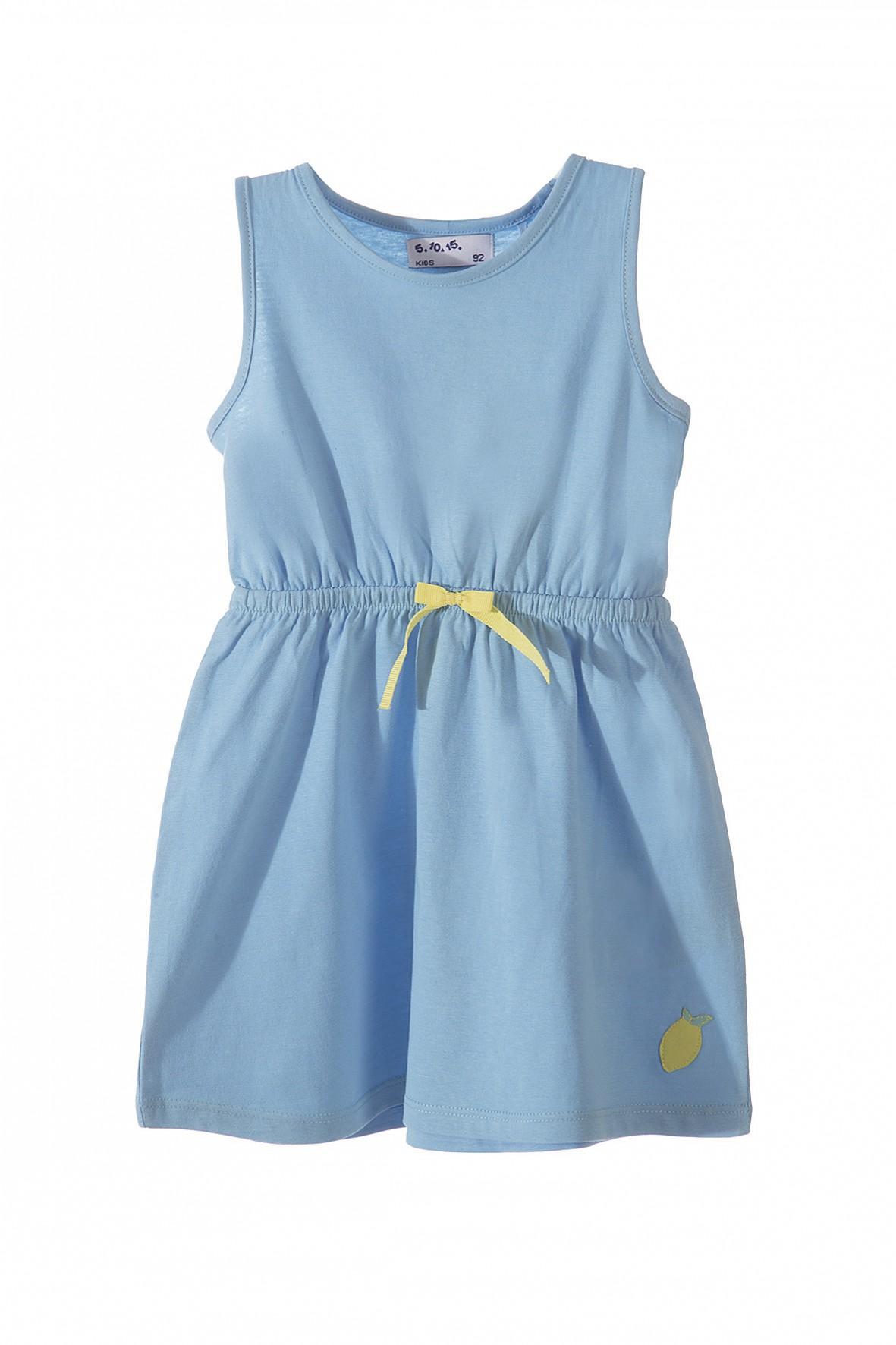 Sukienka dzianinowa dla dziewczynki- niebieska