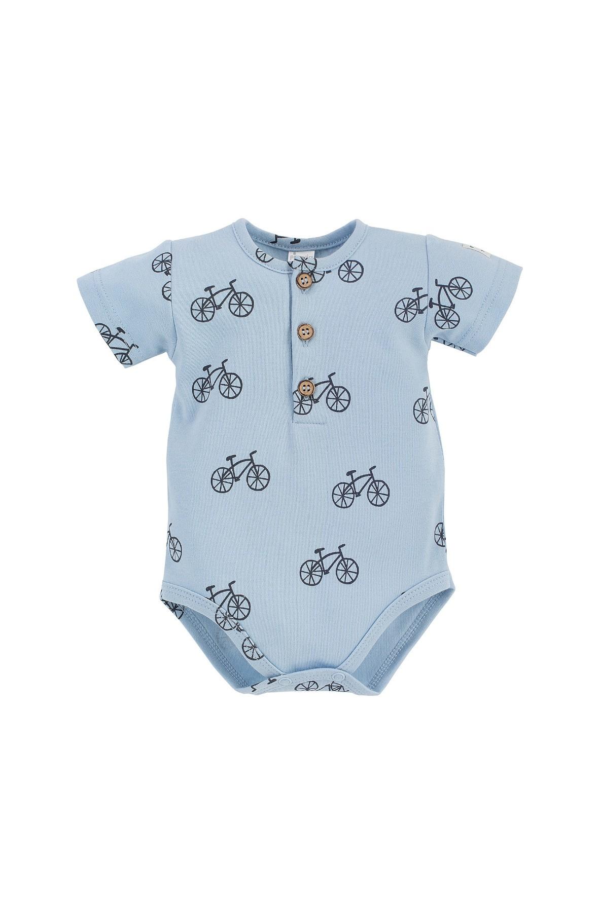 Bawełniane body niemowlęce z krótkim rękawem rowerki