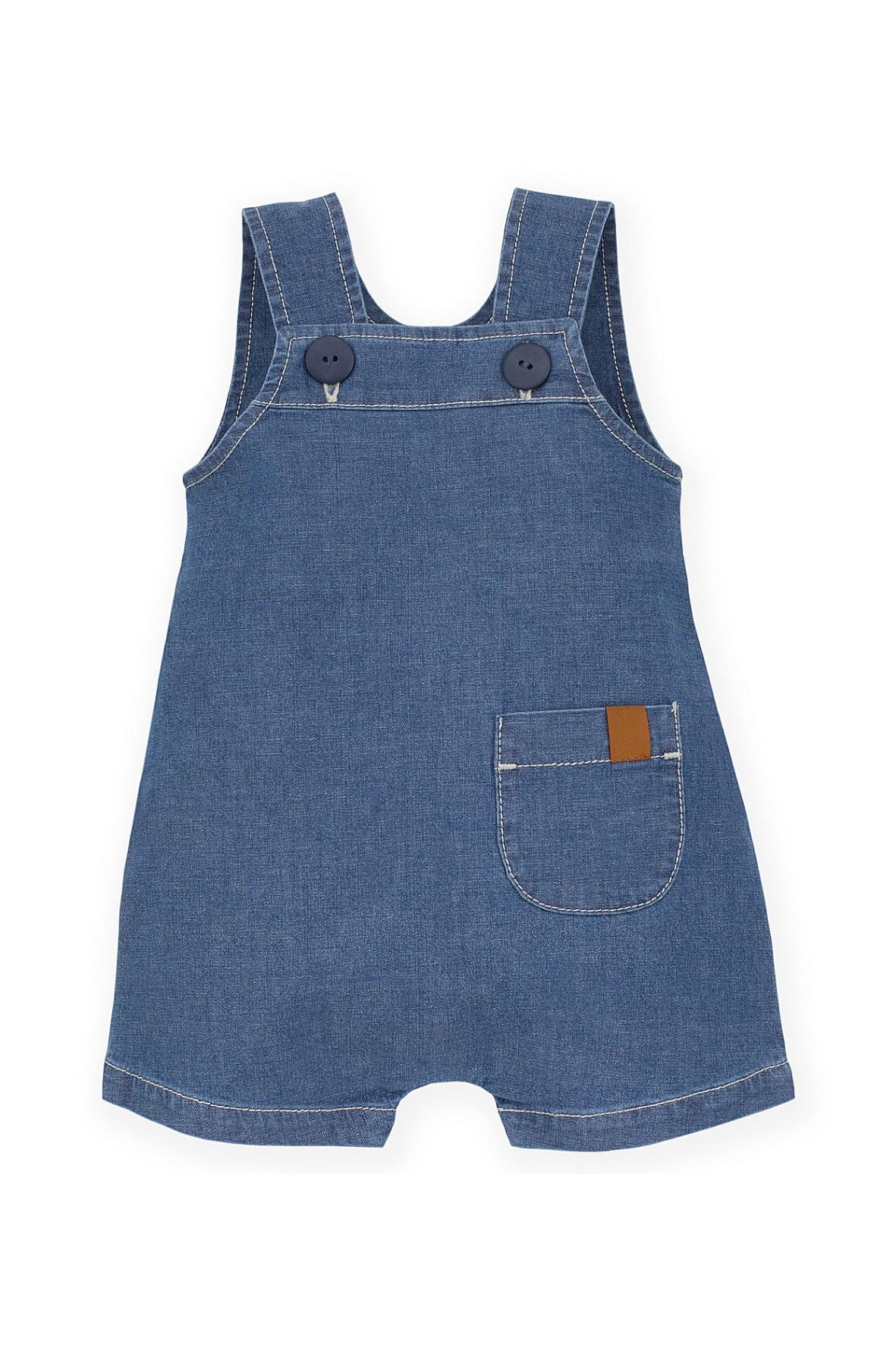 Ogrodniczki niemowlęce jeansowe- niebieskie