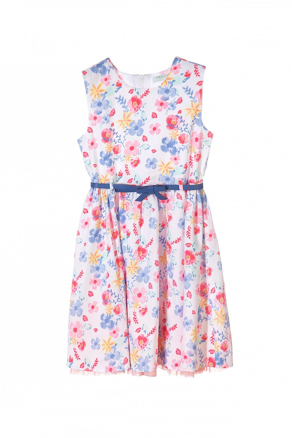 15bdc06432 Elegancka sukienka w kwiaty dla dziewczynki- ubranie na specjalne okazje