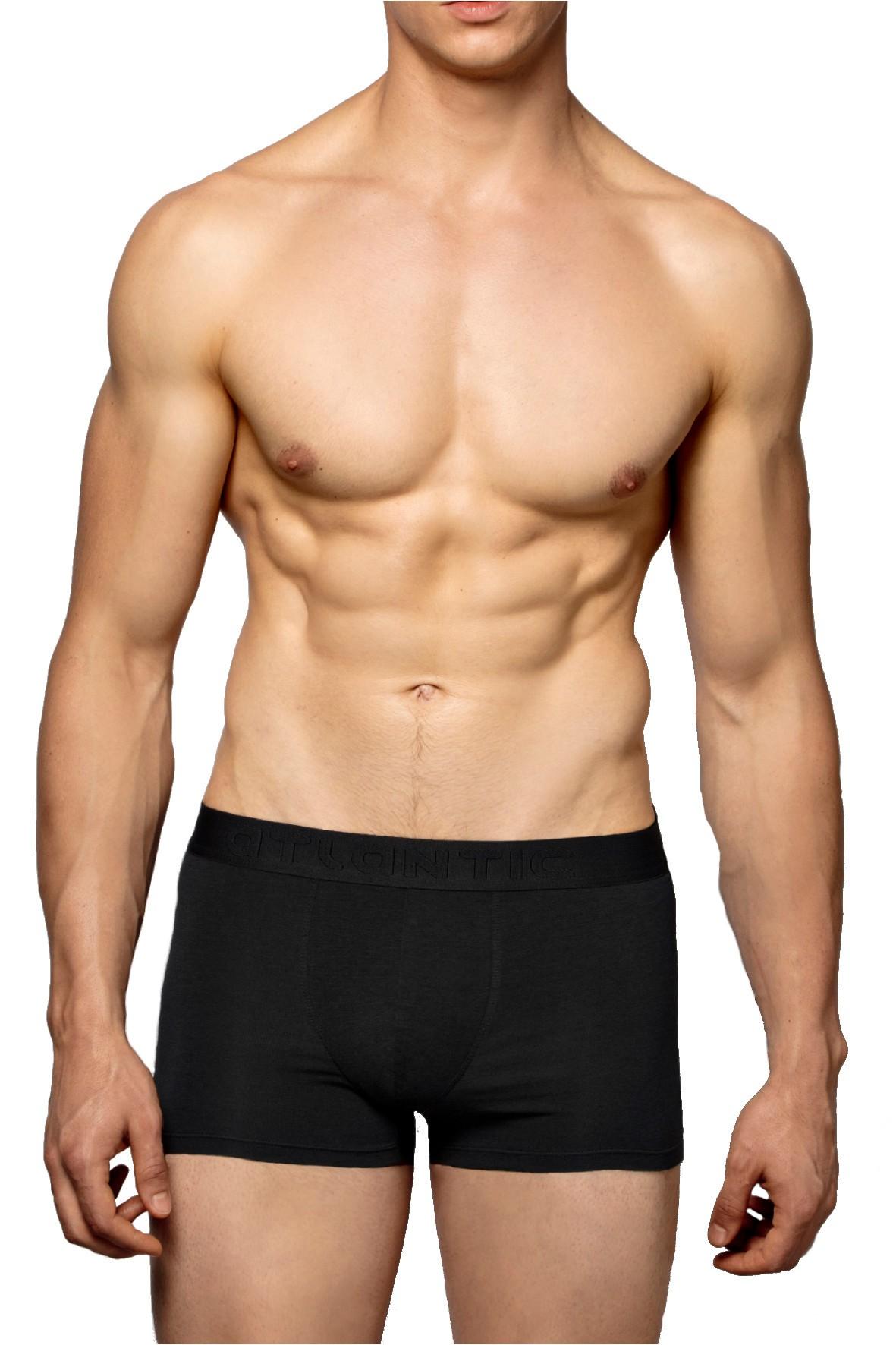Przylegające do ciała bokserki męskie Atlantic- czarne