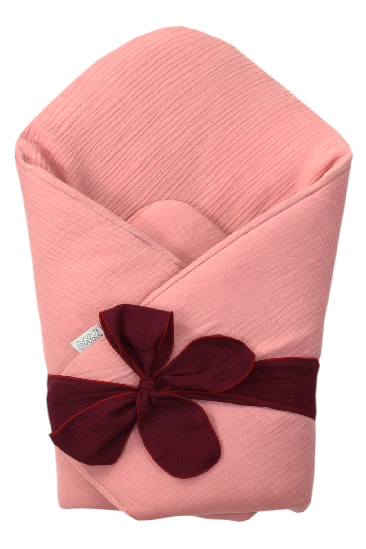 Becik niemowlęcy z usztywnieniem - różowo-bordowy