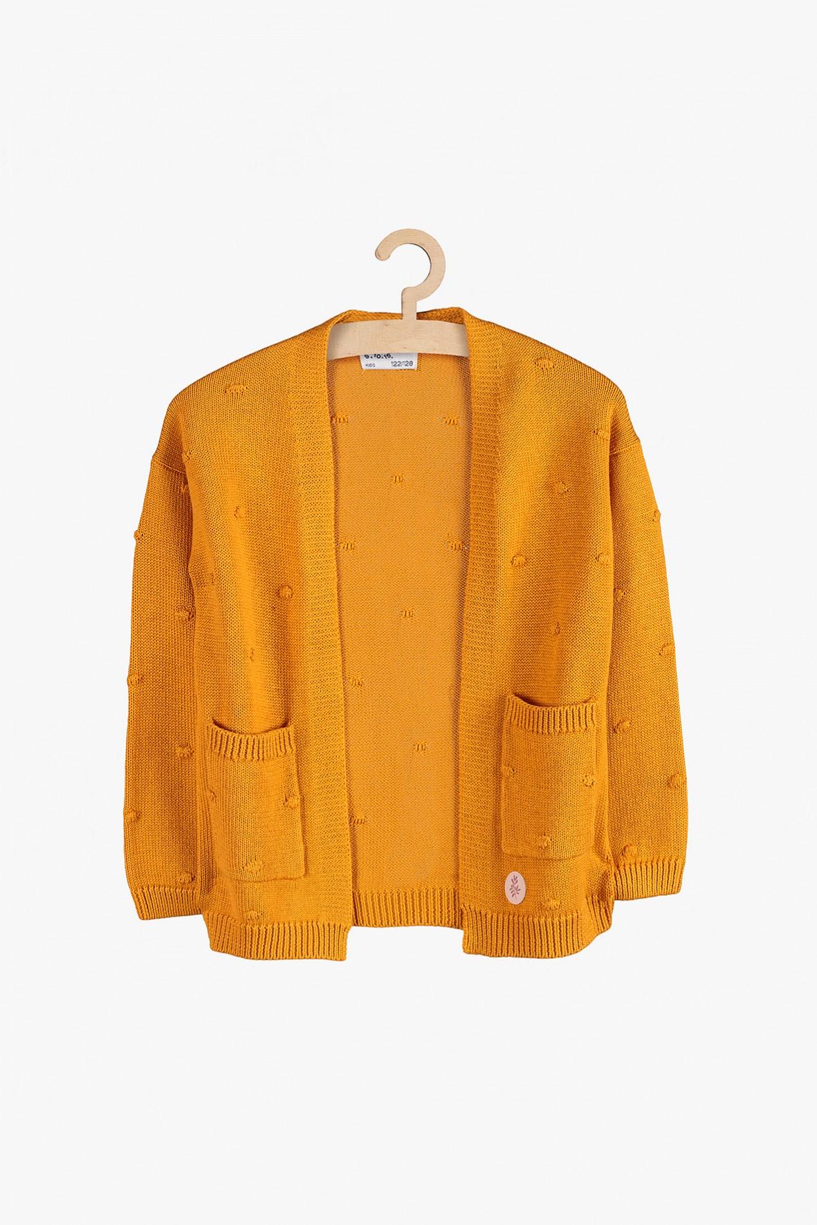 Sweter dziewczęcy z kieszeniami