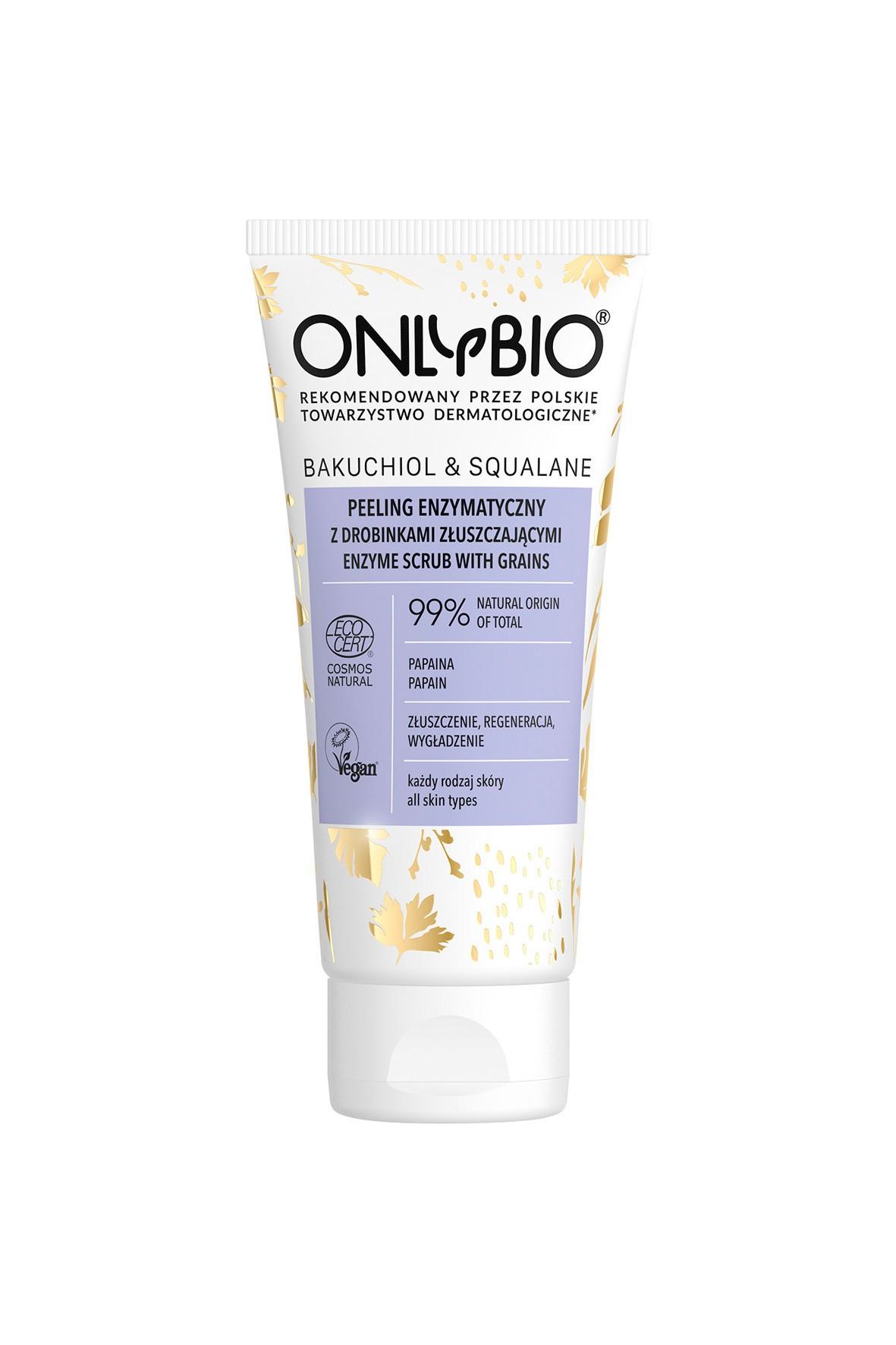 Peeling enzymatyczny złuszczający Bakuchiol&Skwalan- OnlyBio 200ml