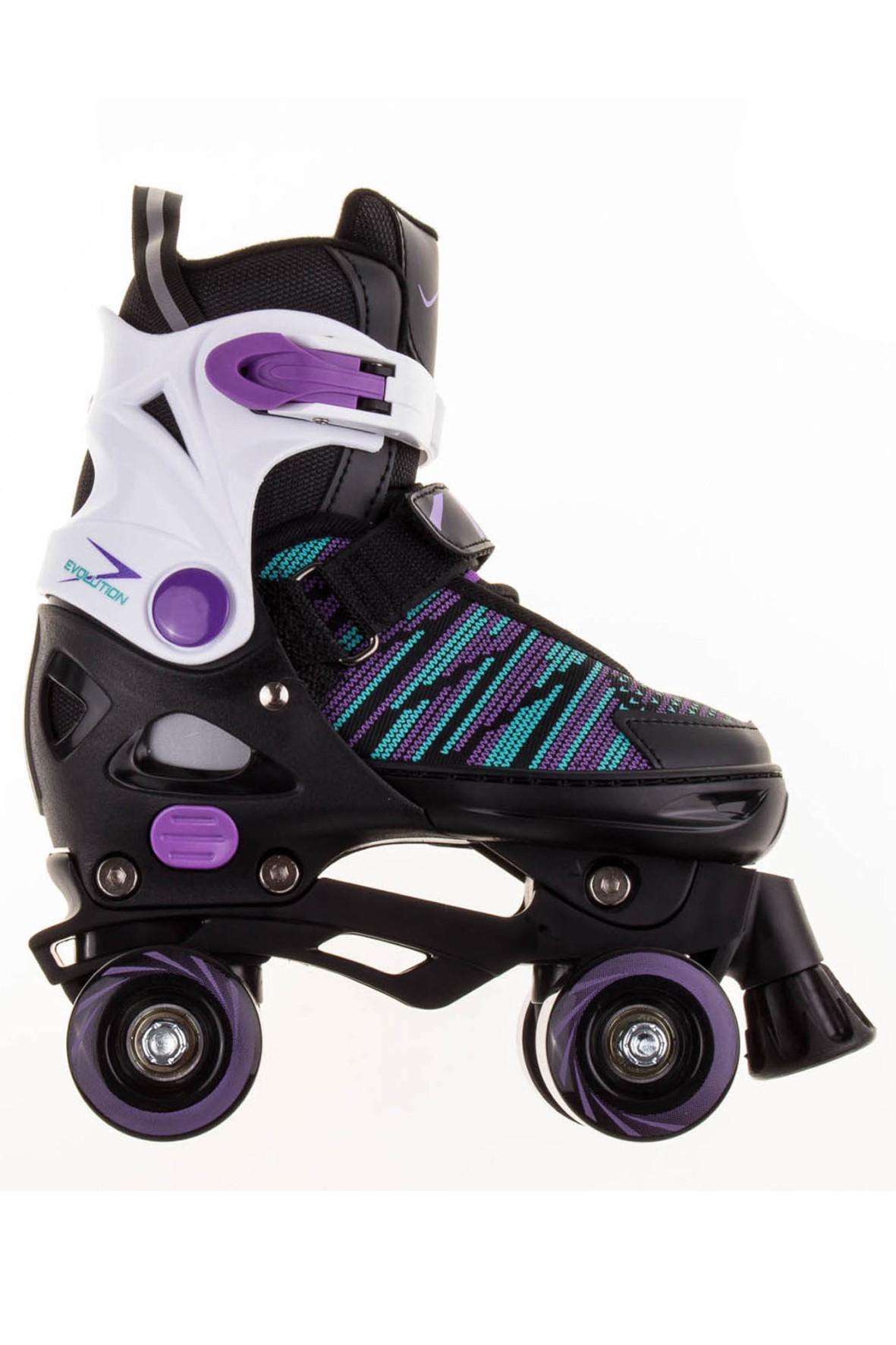 Wrotki Vivo Dark black/violet rozmiar 29-32