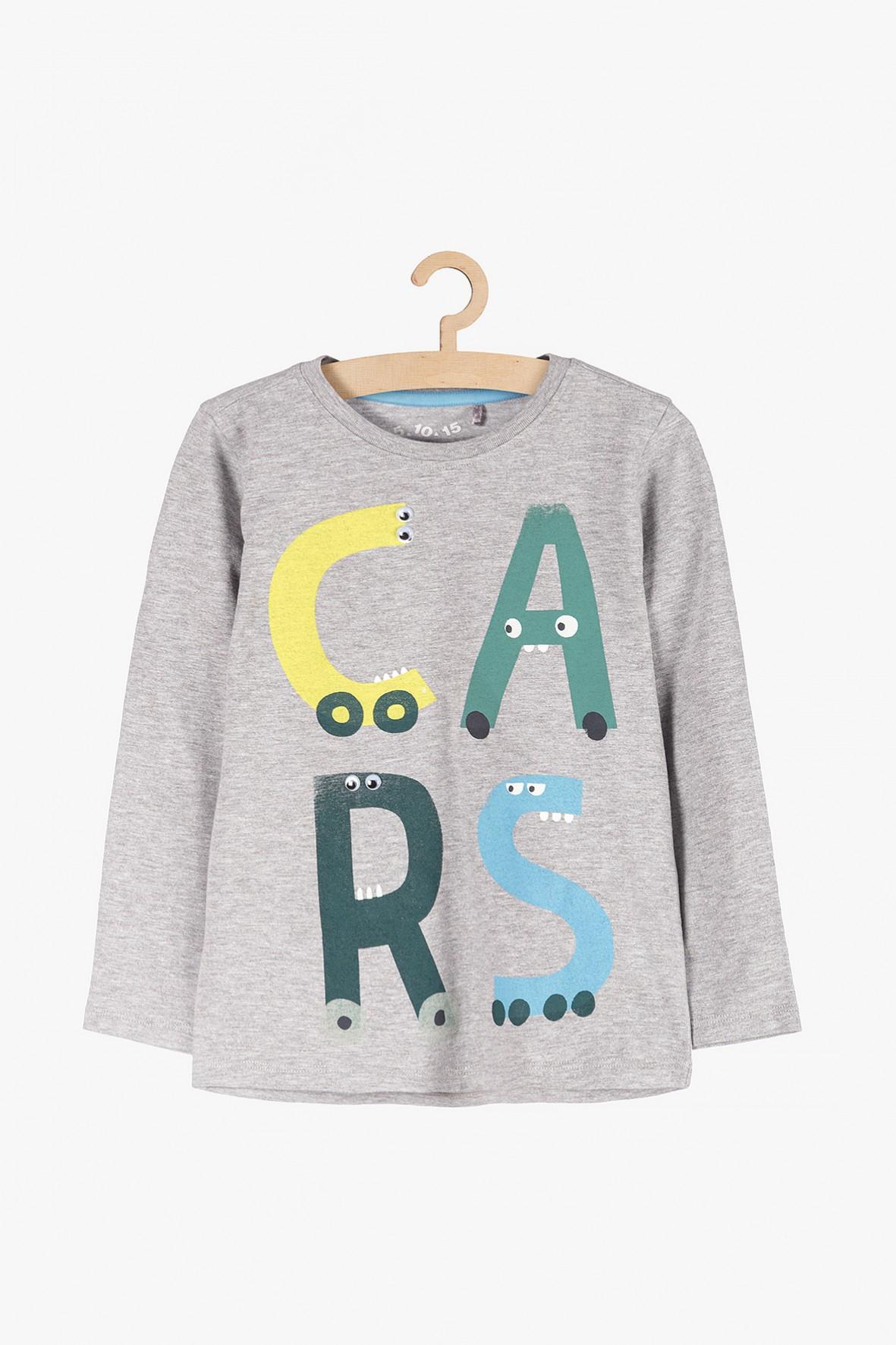Bluzka dla chłopca- szara Cars