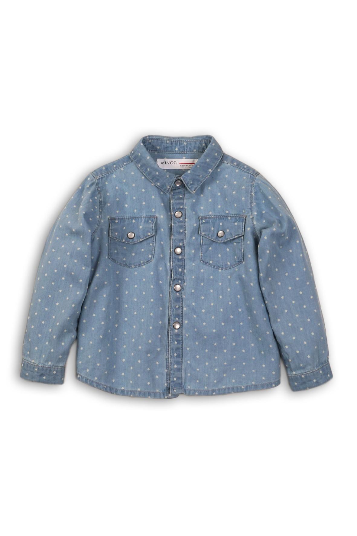 Koszula dla niemowlaka- niebieska w gwiazdki
