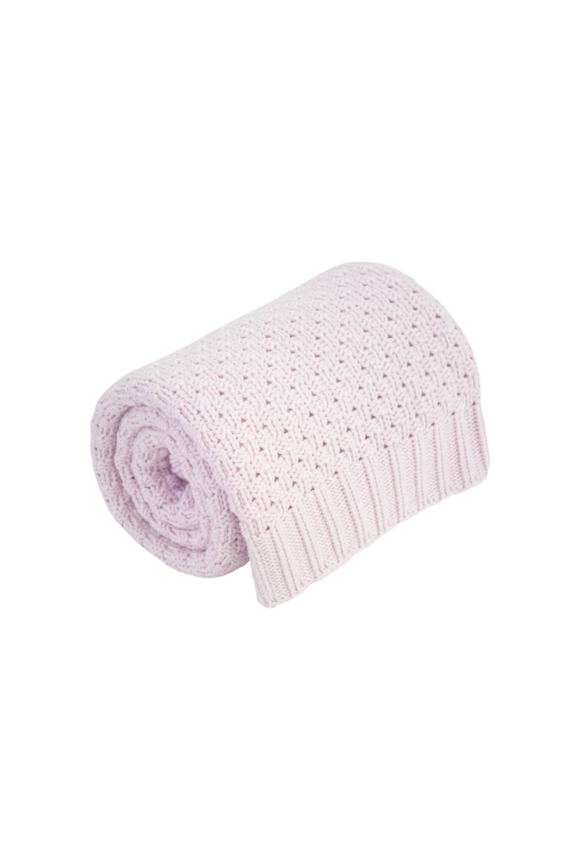 Kocyk różowy 100% bawełna