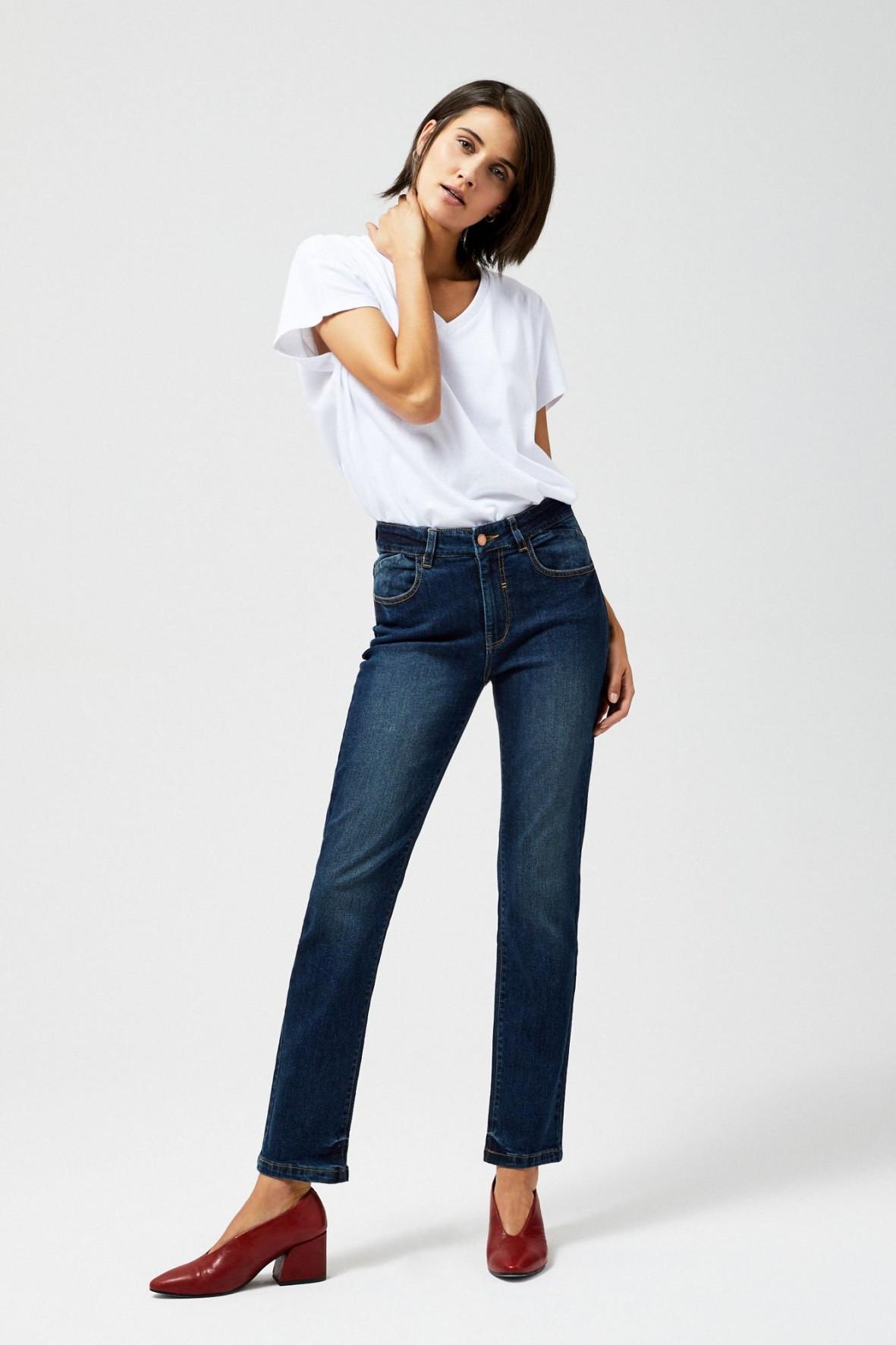 Spodnie jeansowe damskie- granatowe