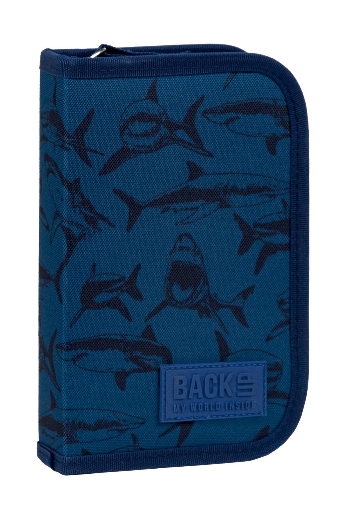 Piórnik BackUp 3 bez wyposażenia - rekiny