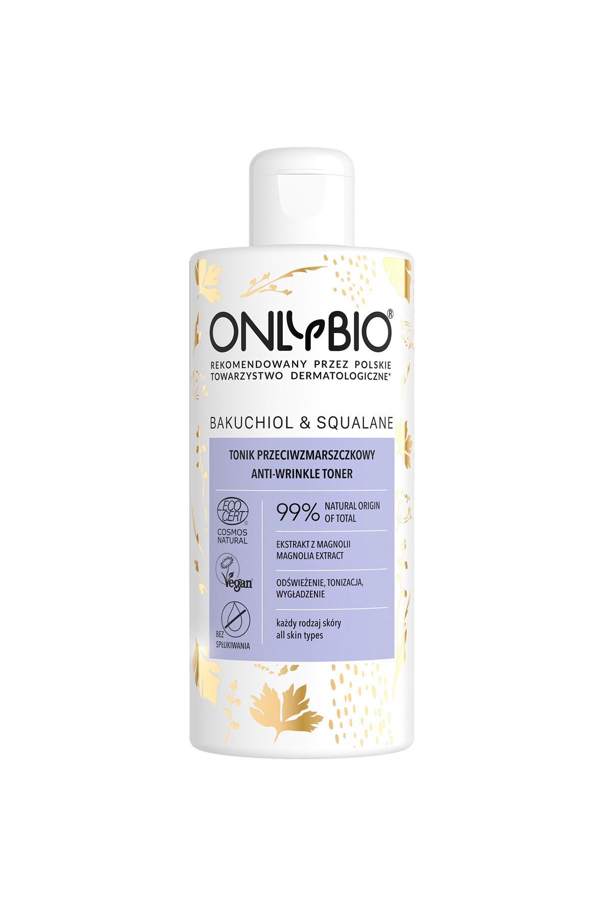 Tonik przeciwzmarszczkowy OnlyBio Bakuchiol&Skwalan 300ml