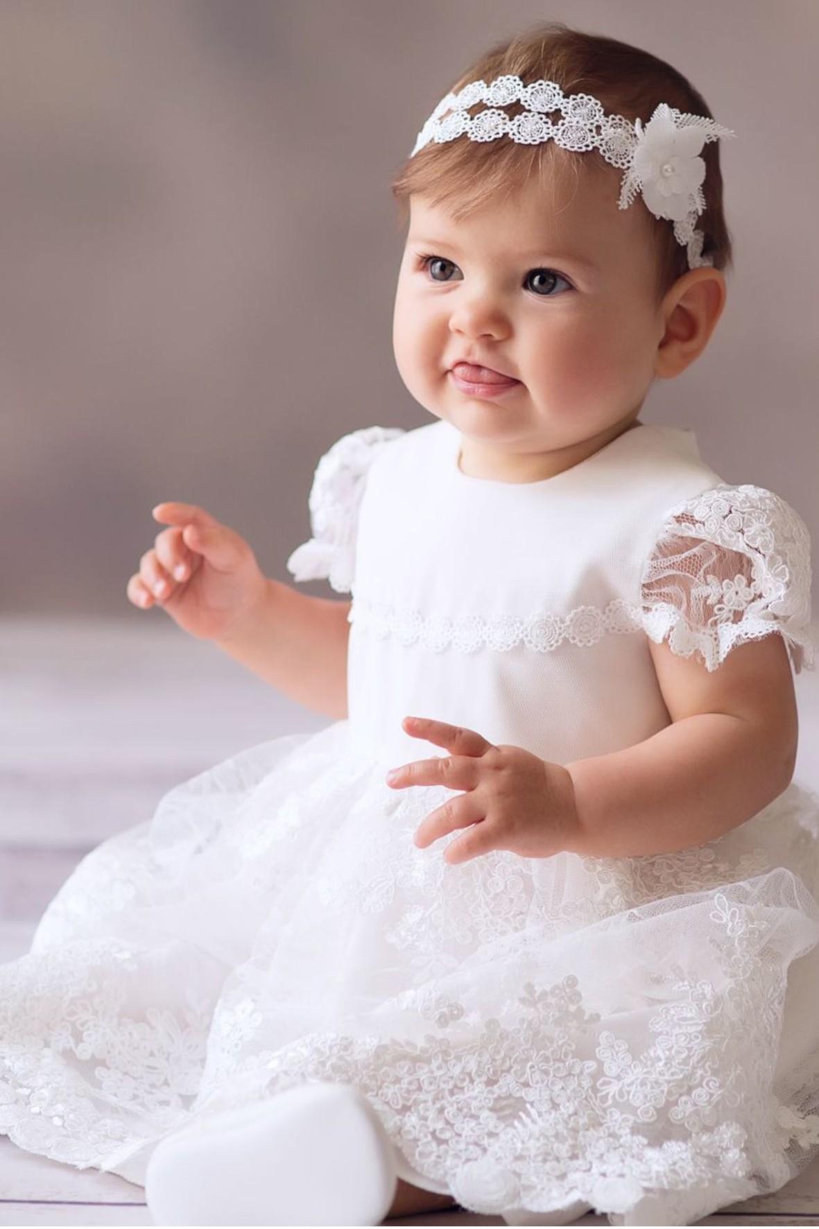 Sukienka niemowlęca do chrztu- Liliana