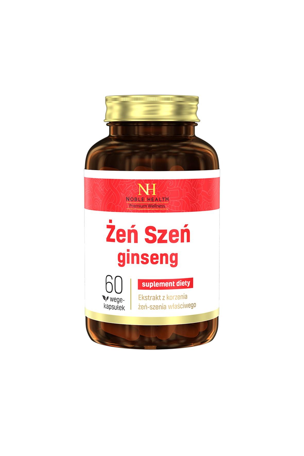 Żeń szeń - suplement diety Noble Health 60 kapsułek