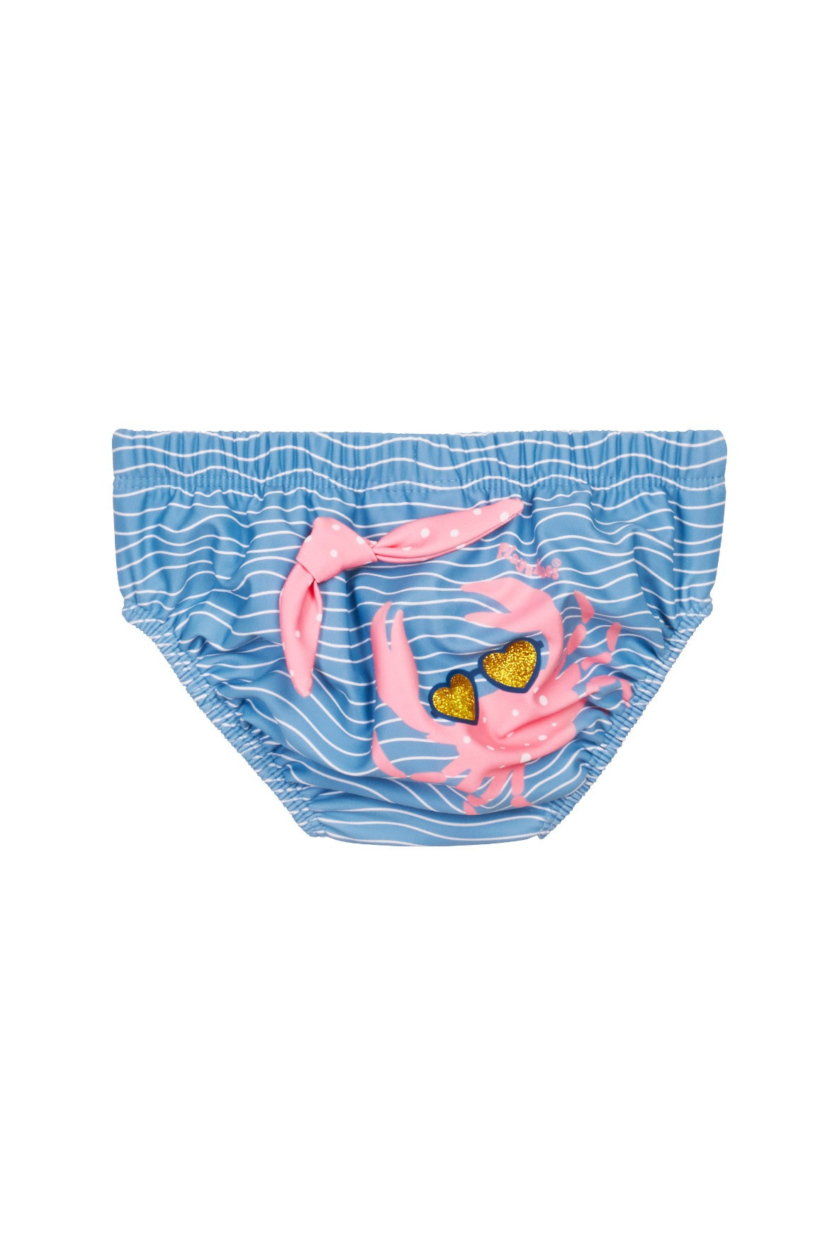 Majtki kąpielowe dla dziewczynki z pieluchą z filtrem UV Krab