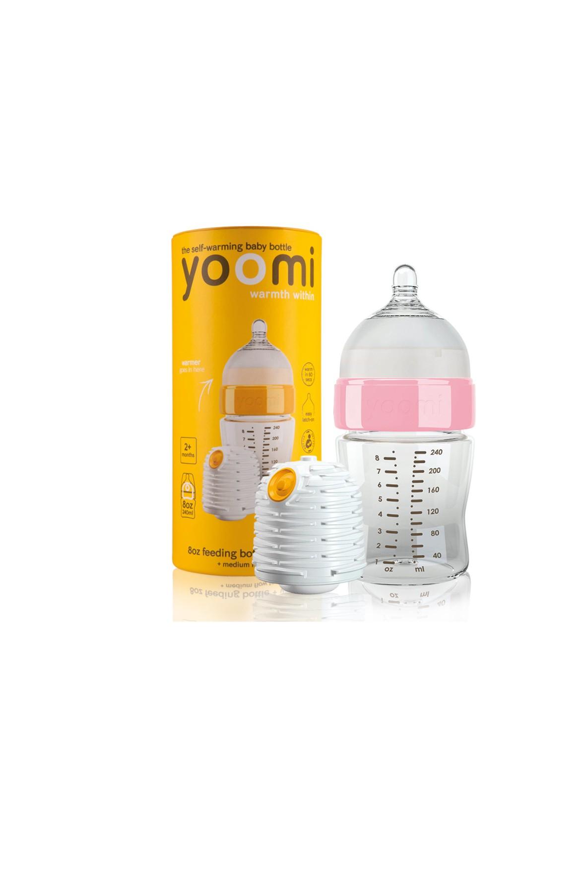 Butelka Yoomi różowy kołnierz wraz z podgrzewaczem 240ml