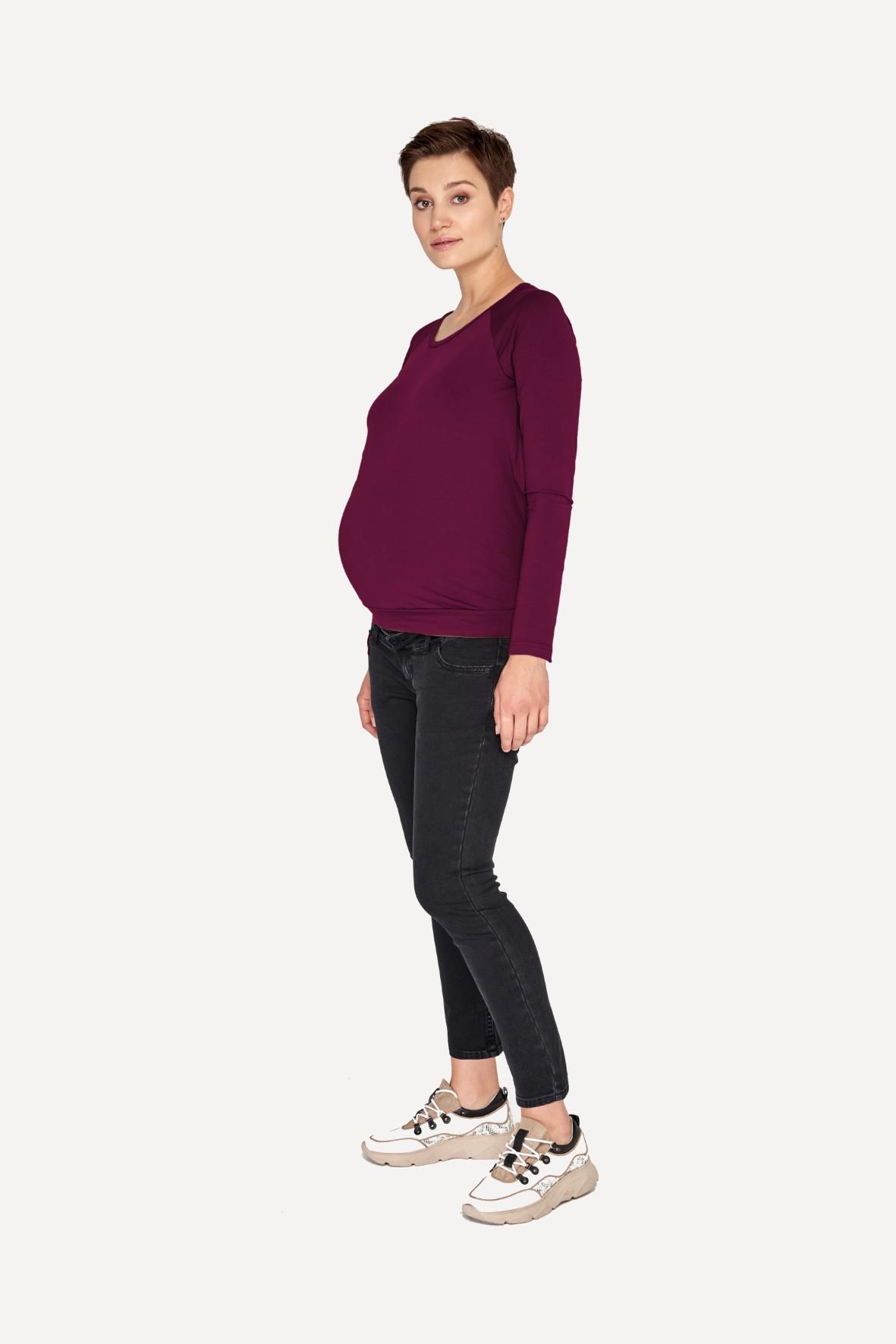 Bluzka ciążowa i do karmienia - śliwka