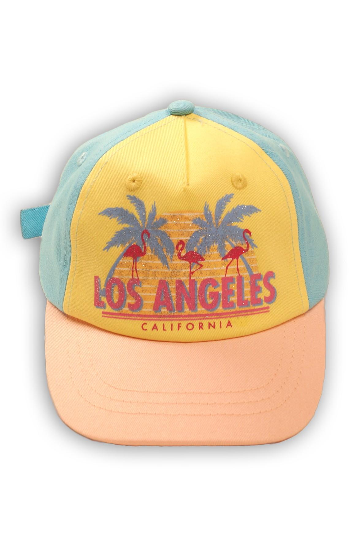 Czapka z daszkiem kolorowa z nadrukiem Los Angeles