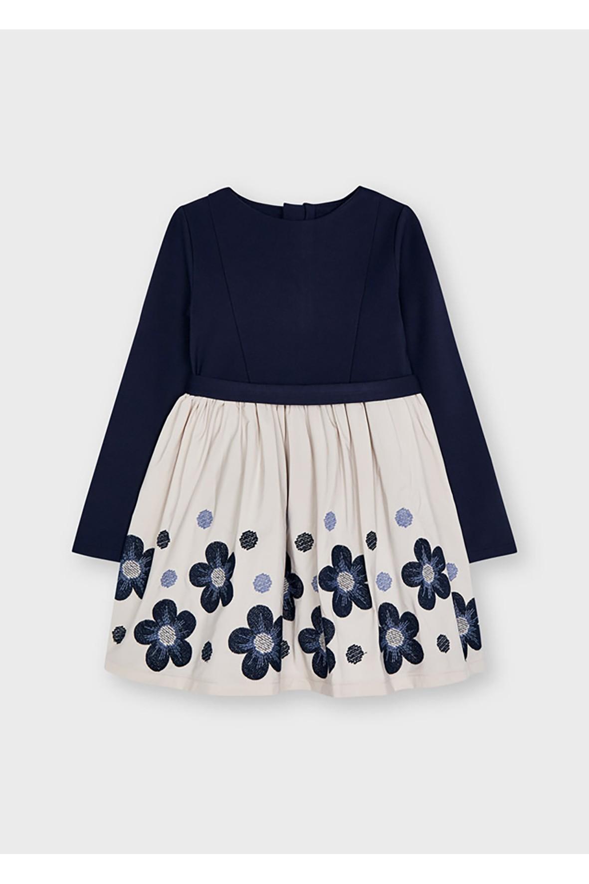 Sukienka z rozkloszowanym dołem  w kwiatki
