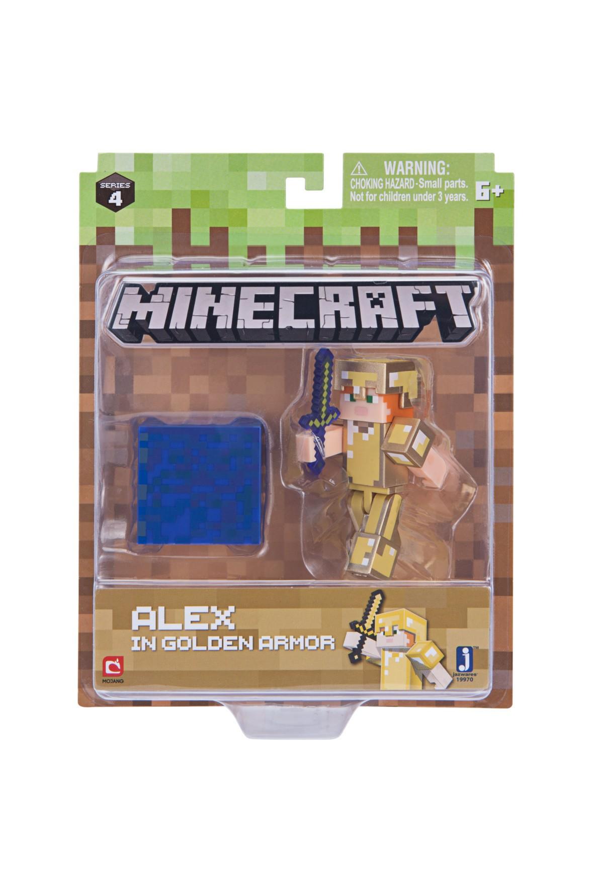 Alex w złotej zbroi Minecraft