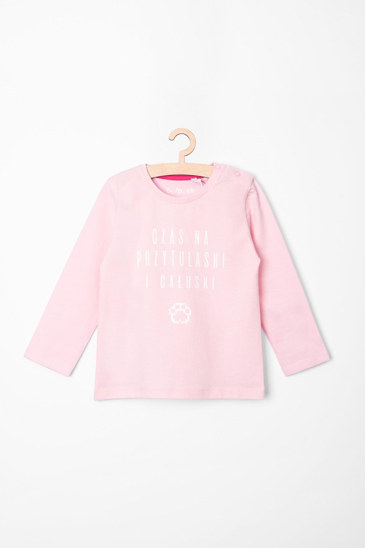 Różowa bluzka dla dziewczynki z polskimi napisami