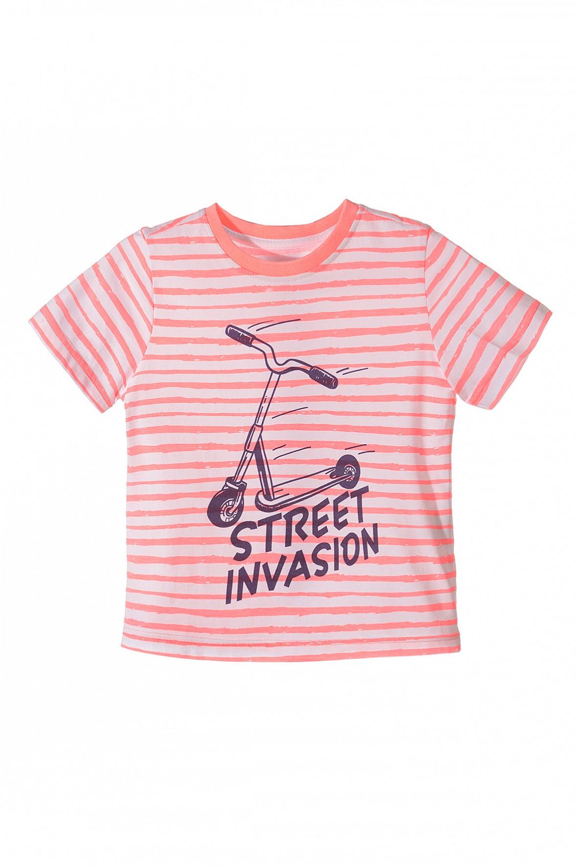 T-shirt chłopięcy z hulajnogą
