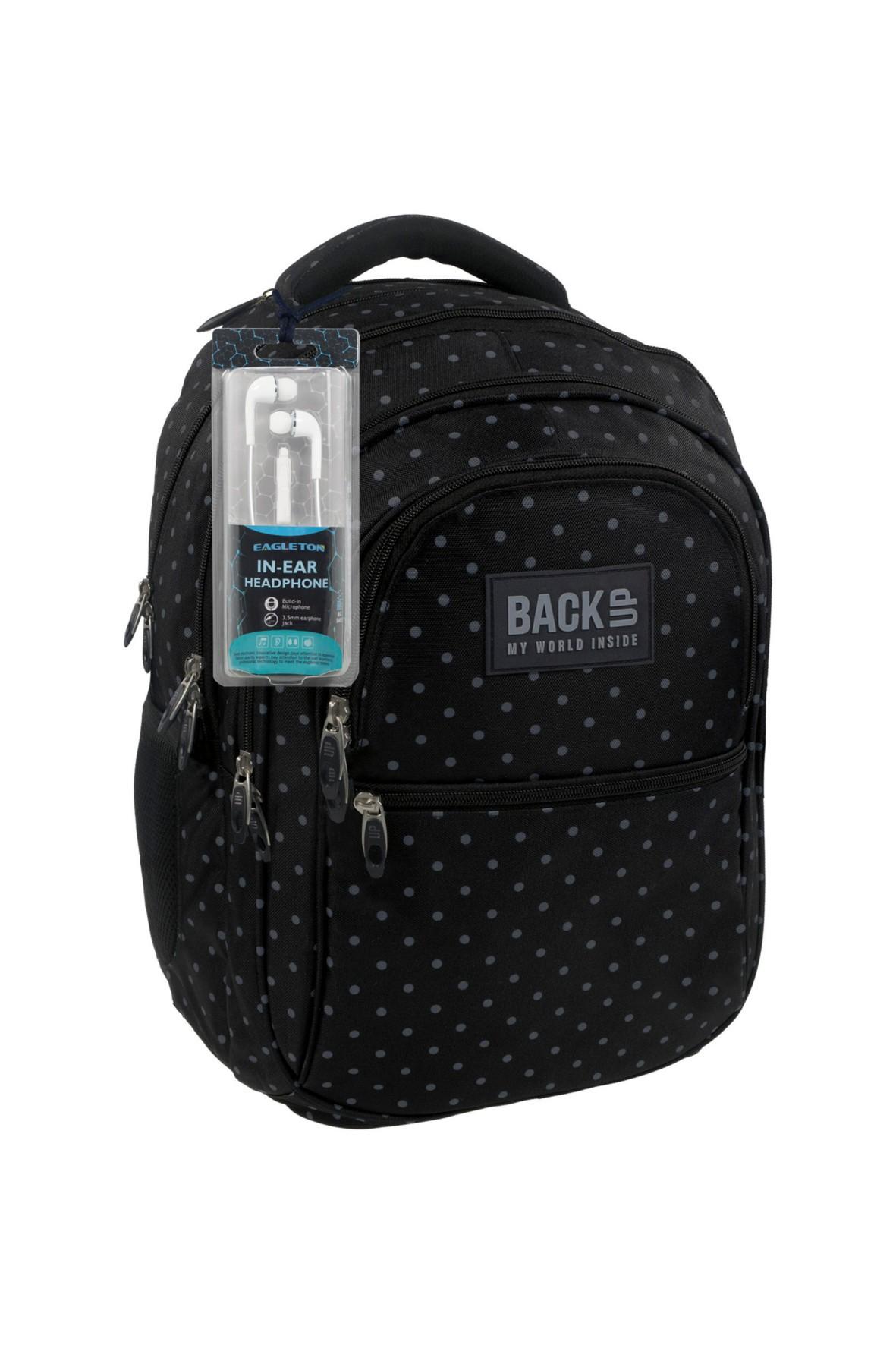 Plecak szkolny 4komorowy- słuchawki gratis