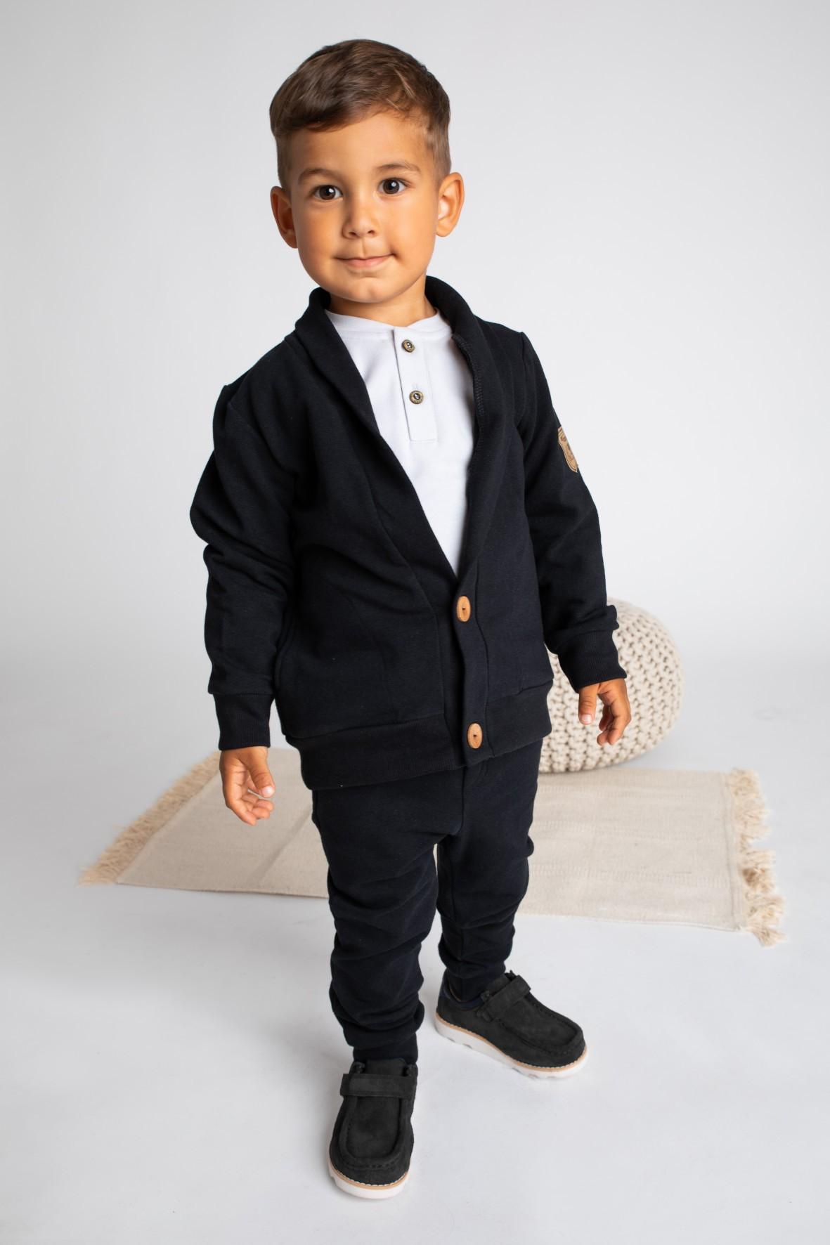 Bluza dresowa chłopięca-czarna