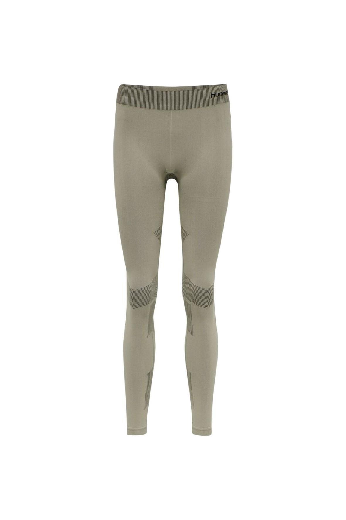 Bezszwowe legginsy treningowe damskie Hummel oliwkowe