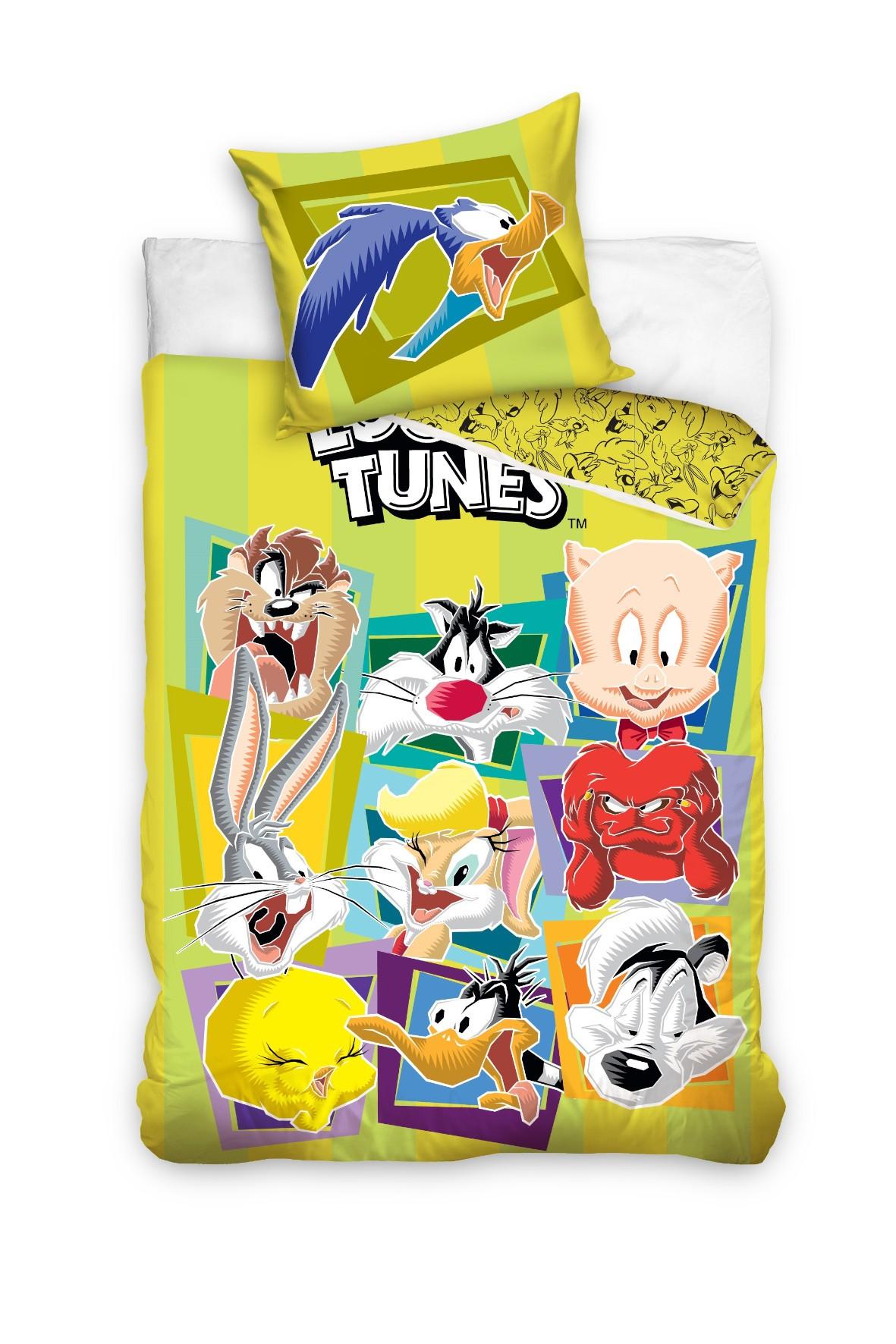 Komplet pościeli bawełnianej 160x200+70x80 cm Looney Tunes