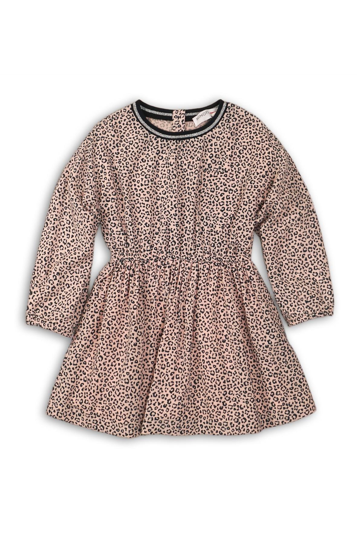 Sukienka dziewczęca- różowa w panterkę