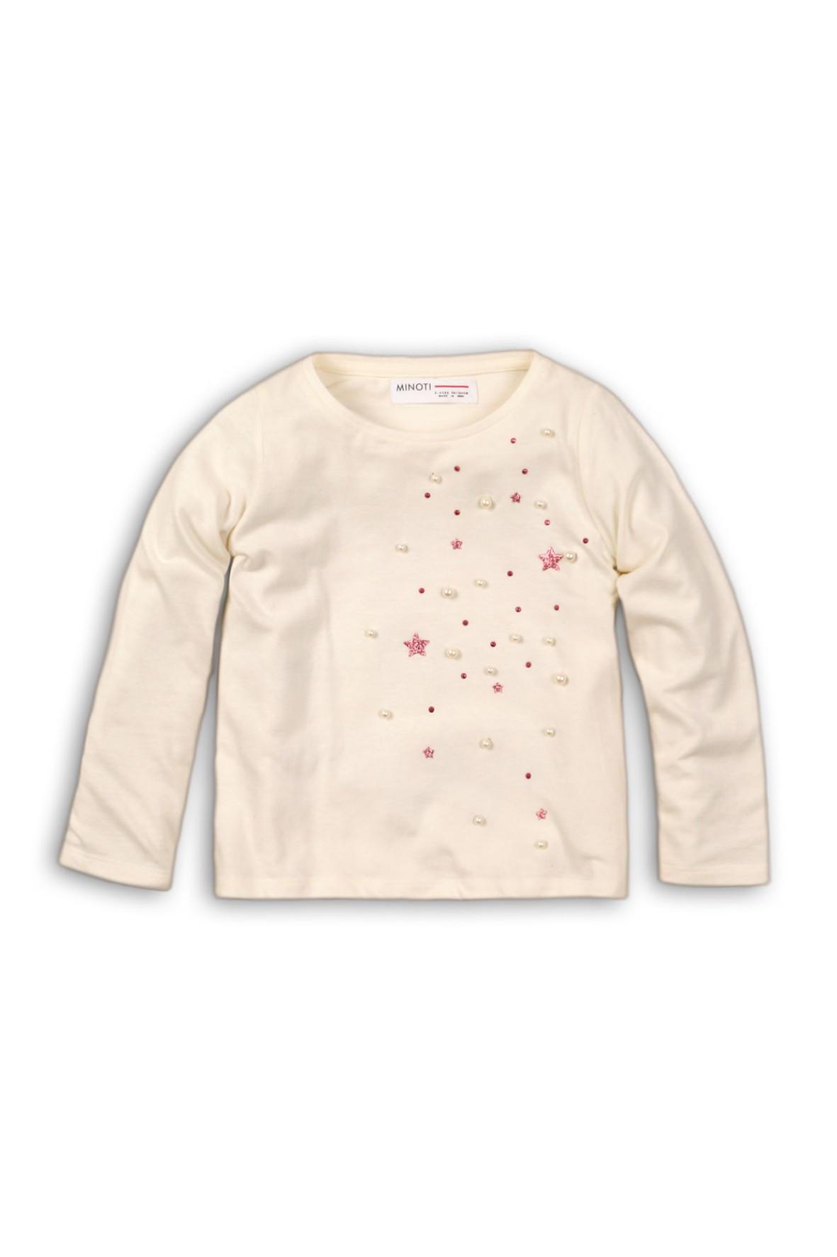 Bluzka dziewczęca różowe gwiazdki