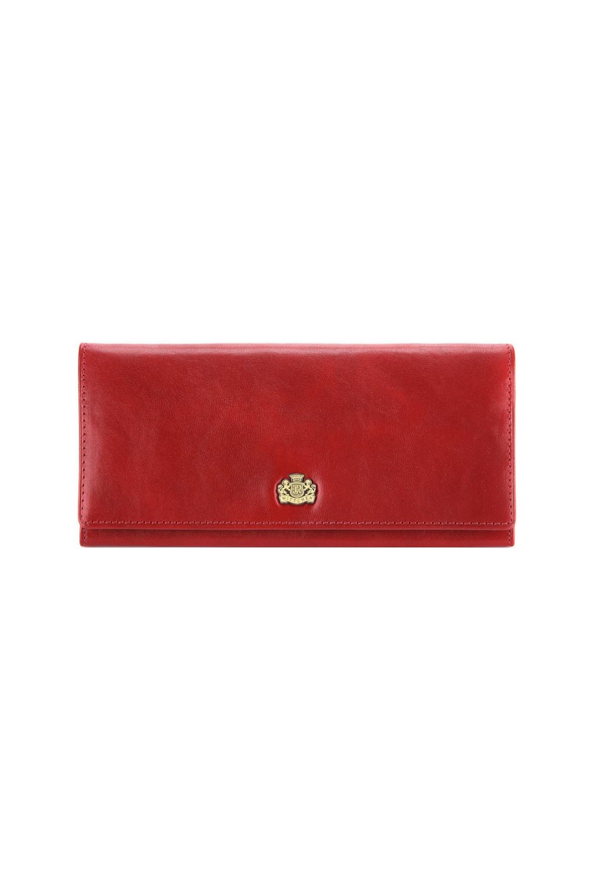 Skórzany portfel damski Wittchen-czerwony