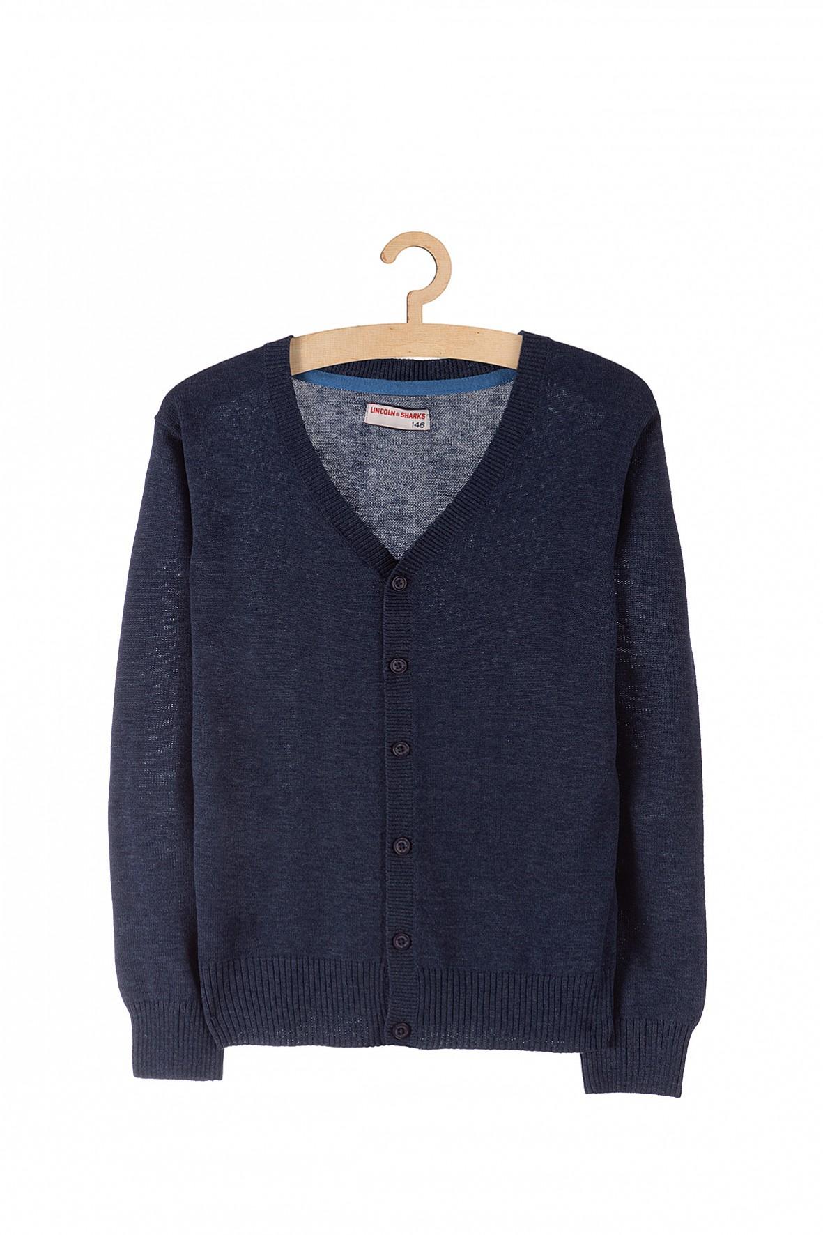Elegancki granatowy sweter dla chłopca