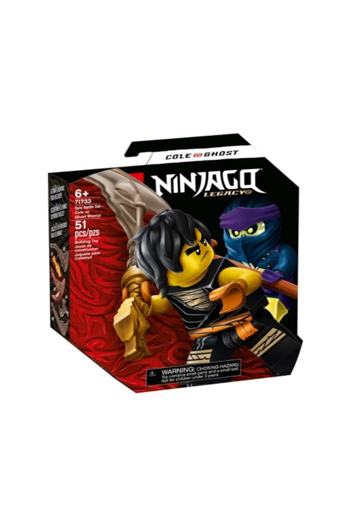 LEGO Ninjago - Epicki zestaw bojowy - Cole kontra Wojownik-Duch - 51 el