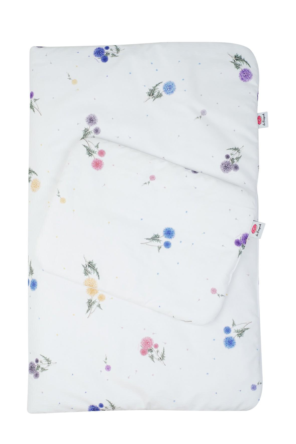Pościel kołdra i poduszka z bawełny z wypełnieniem antyalergicznym 135x100 cm