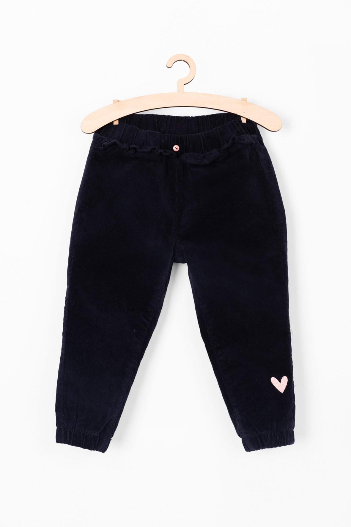 Granatowe spodnie dziewczęce- granatowe