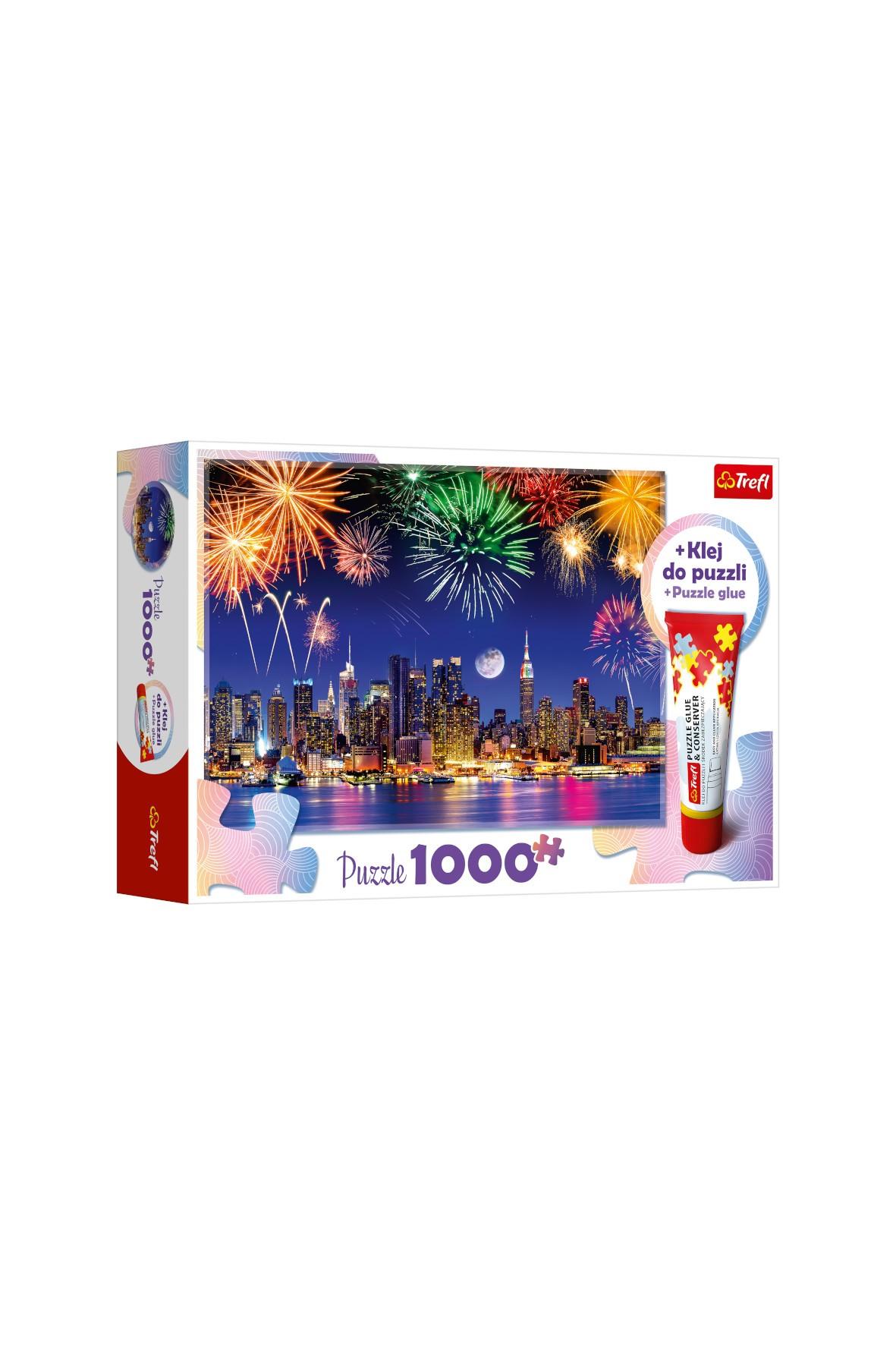 Puzzle 1000 elementów klejone - Fajerwerki w Nowym Jorku