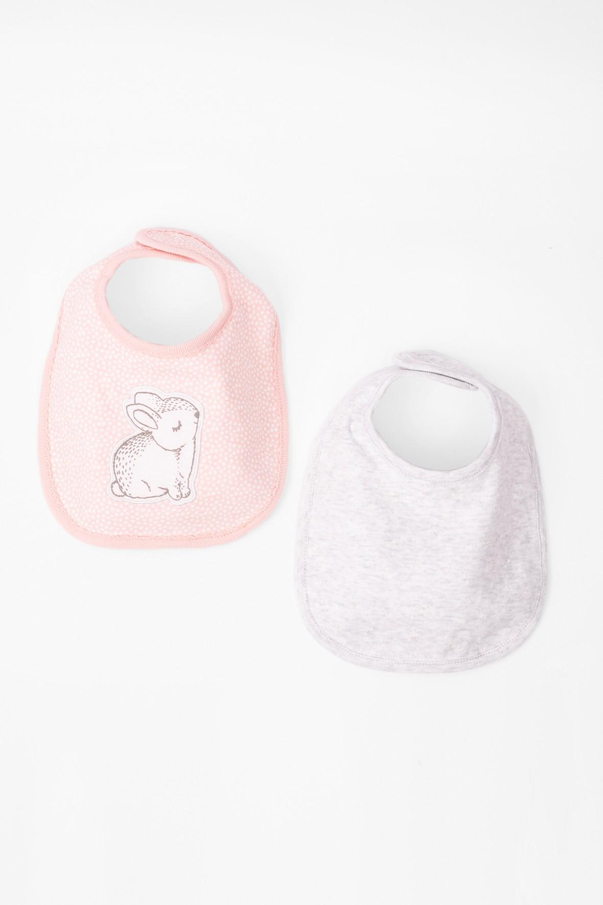 Śliniak bawełniany dwupak- króliki