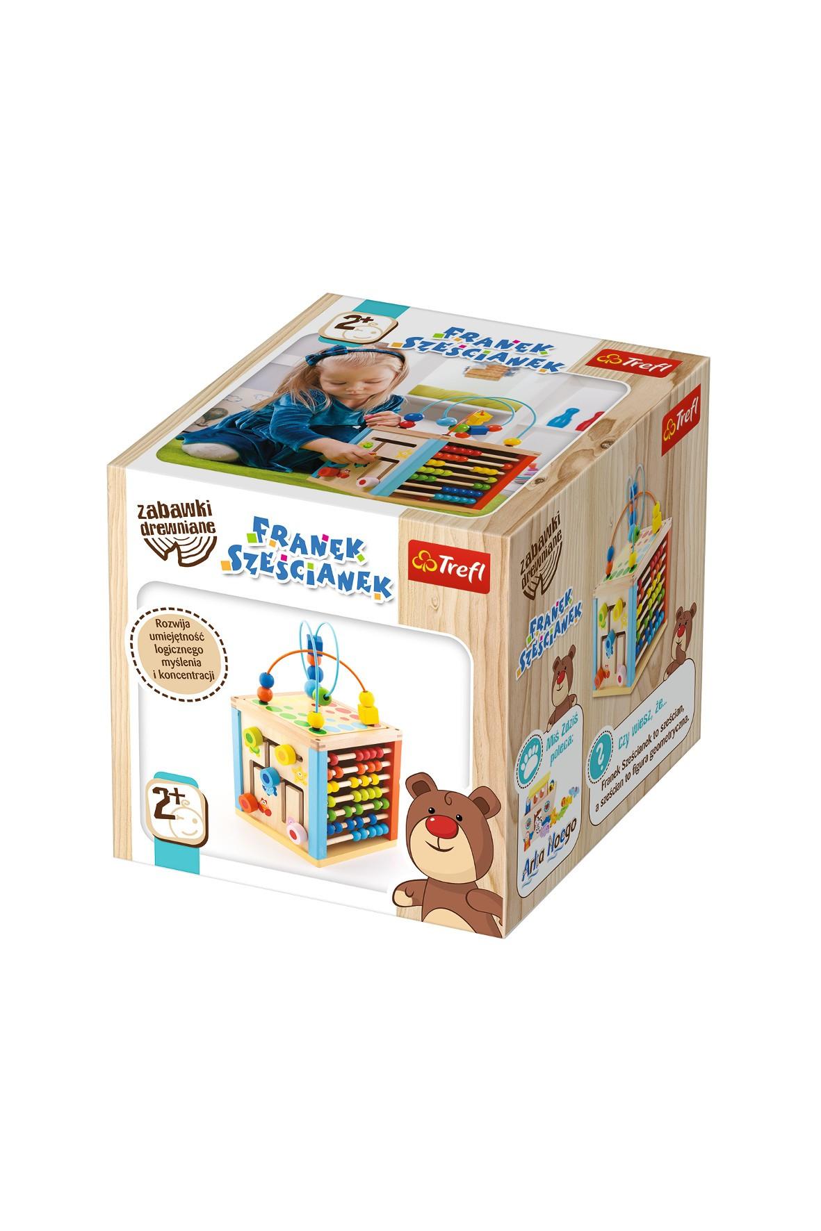 Zabawka edukacyjna drewniana - Franek Sześcianek