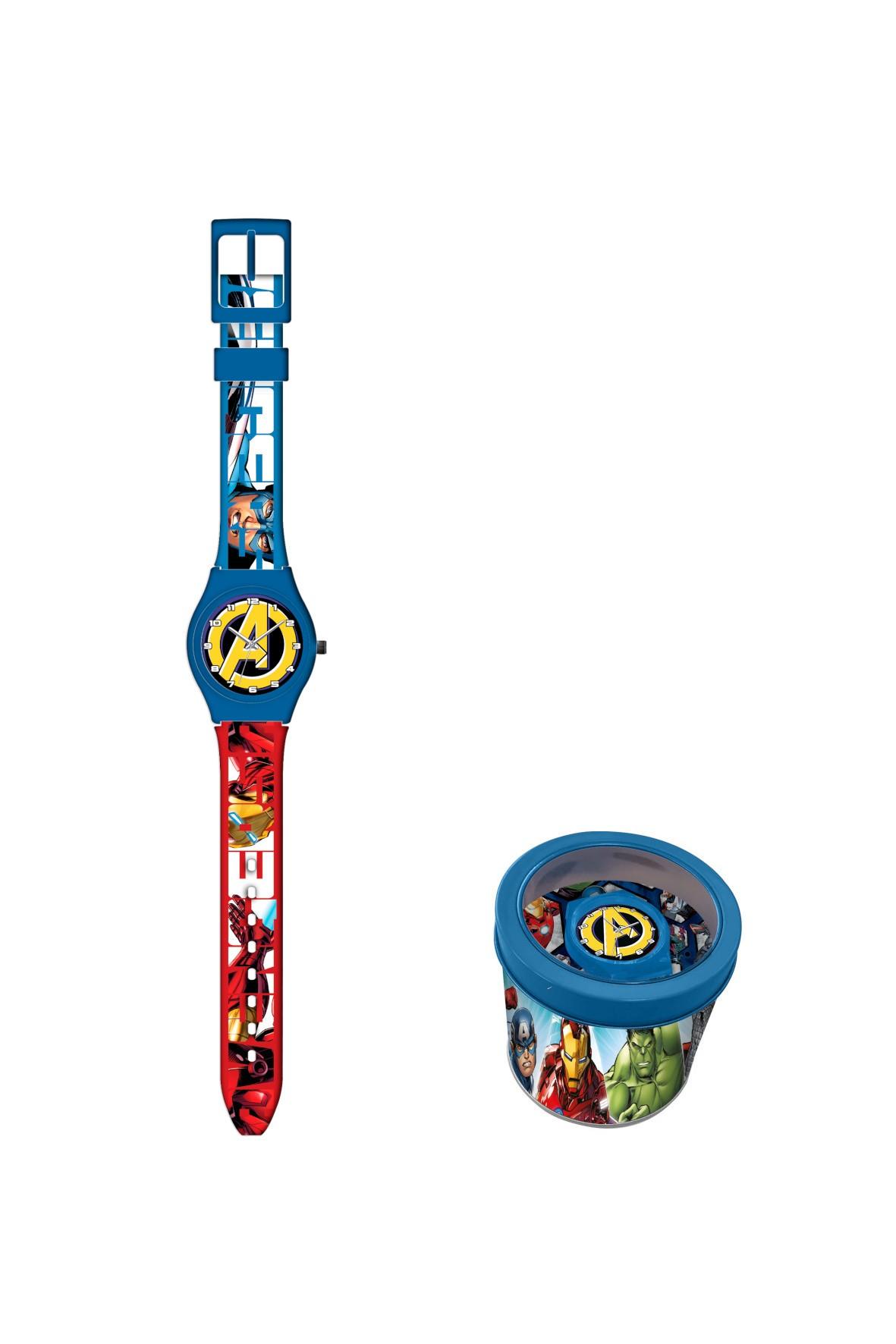 Zegarek analogowy  w metalowym opakowaniu Avengers