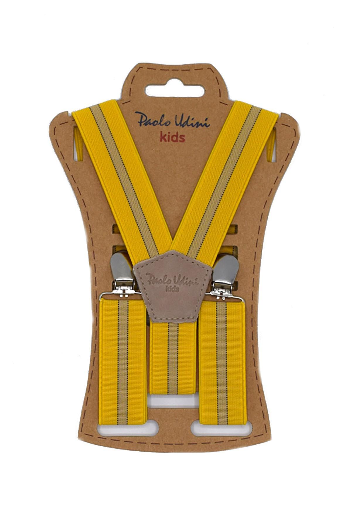 Szelki chłopięce do spodni 60 cm - żółte