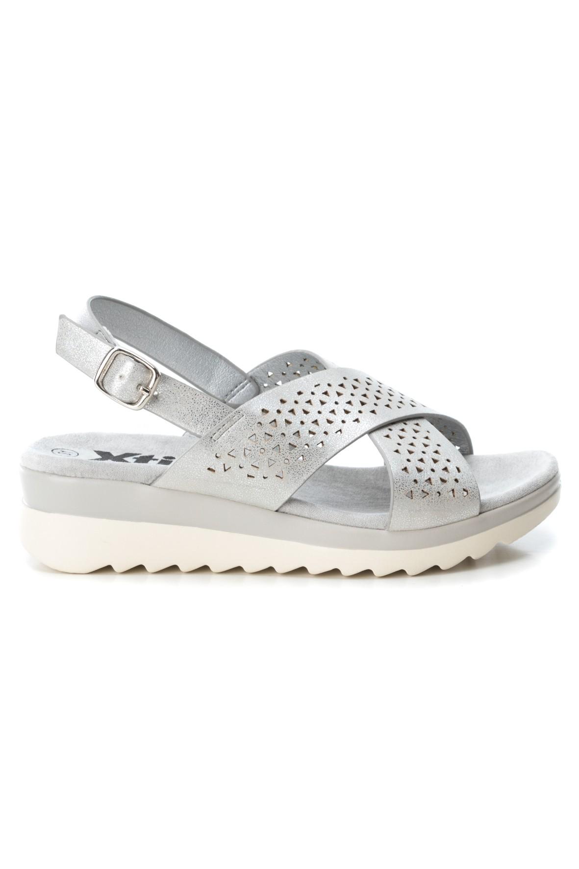 Sandały dziewczęce srebrne