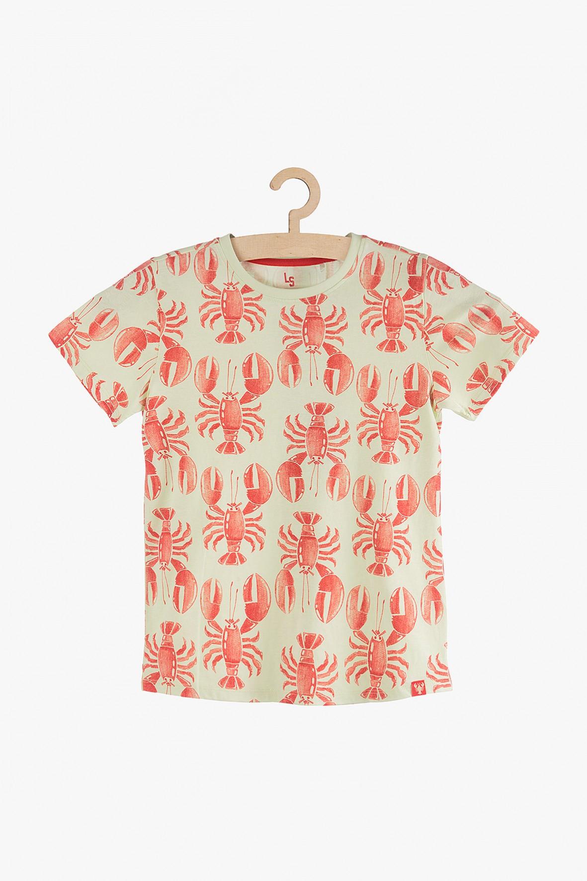 Koszulka chłopięca w raki- 100% bawełna