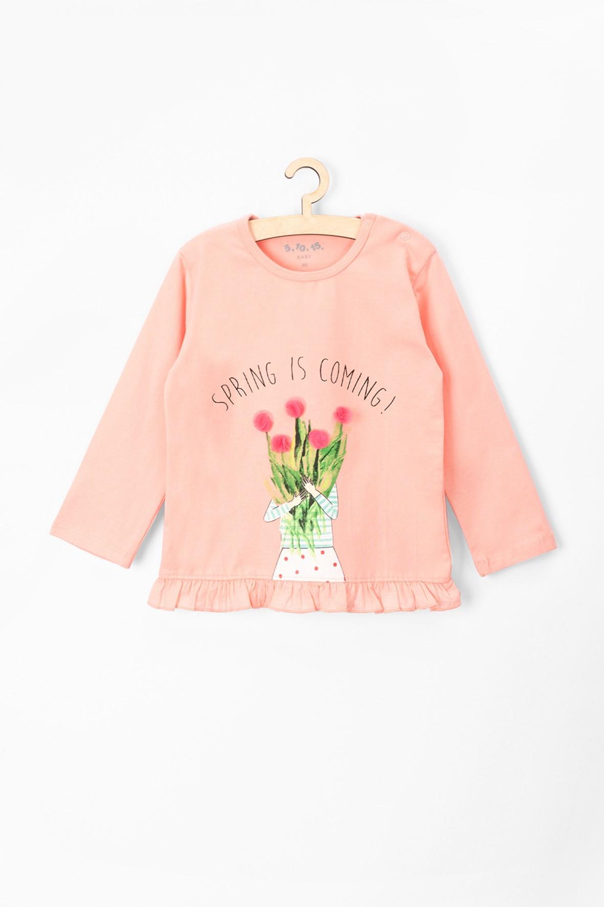Bluzka niemowlęca różowa-spring