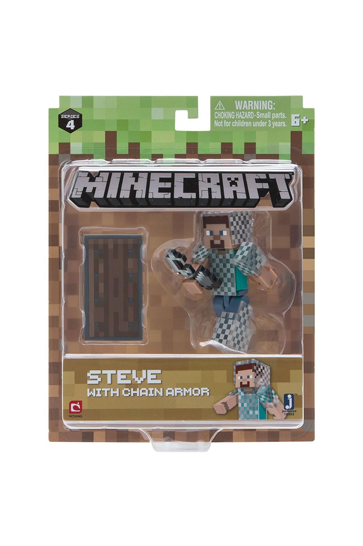 Figurka Steve w zbroi z łańcucha Minecraft