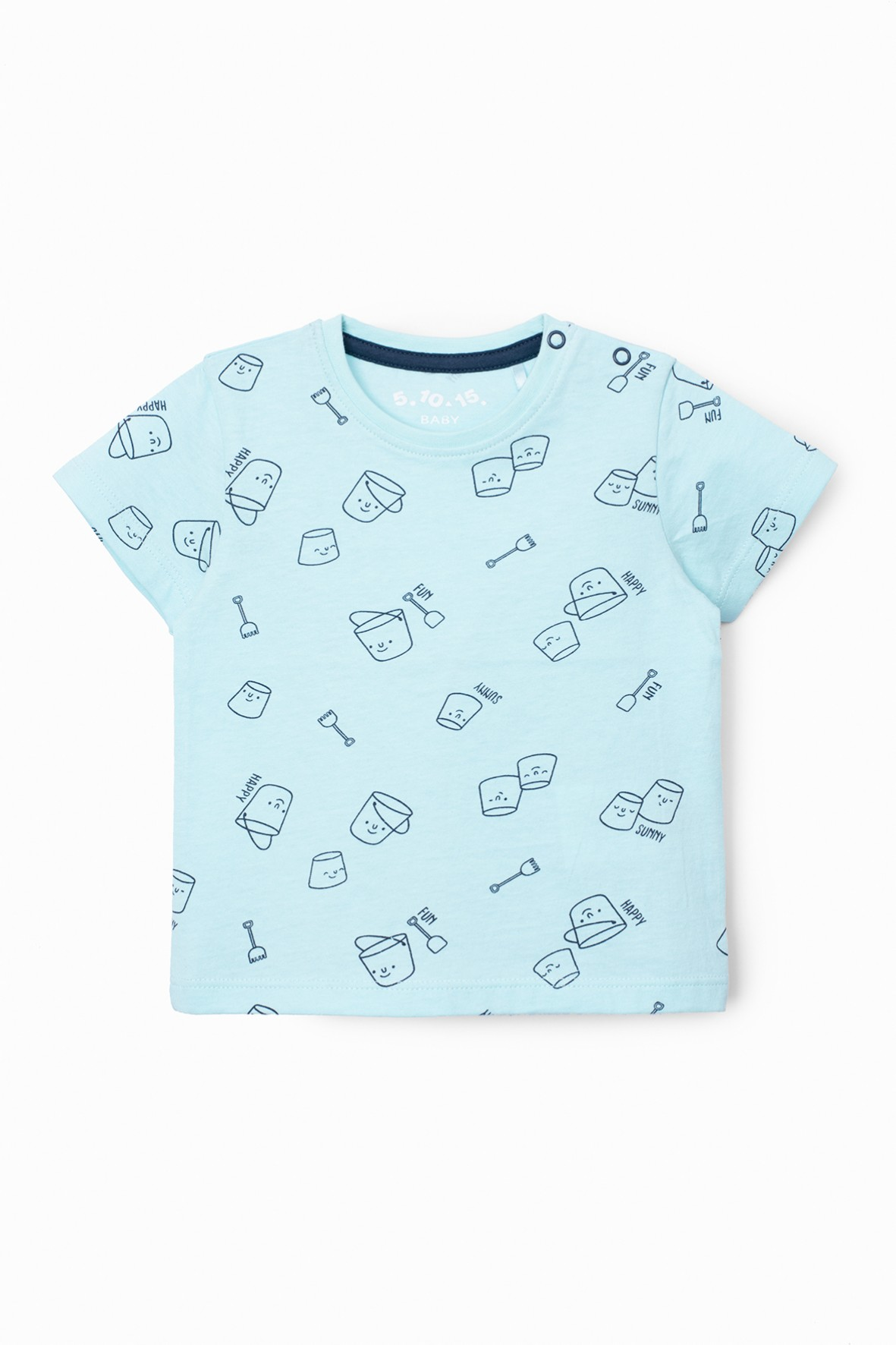 T-shirt niemowlęcy w kolorze niebieskim -100% bawełna