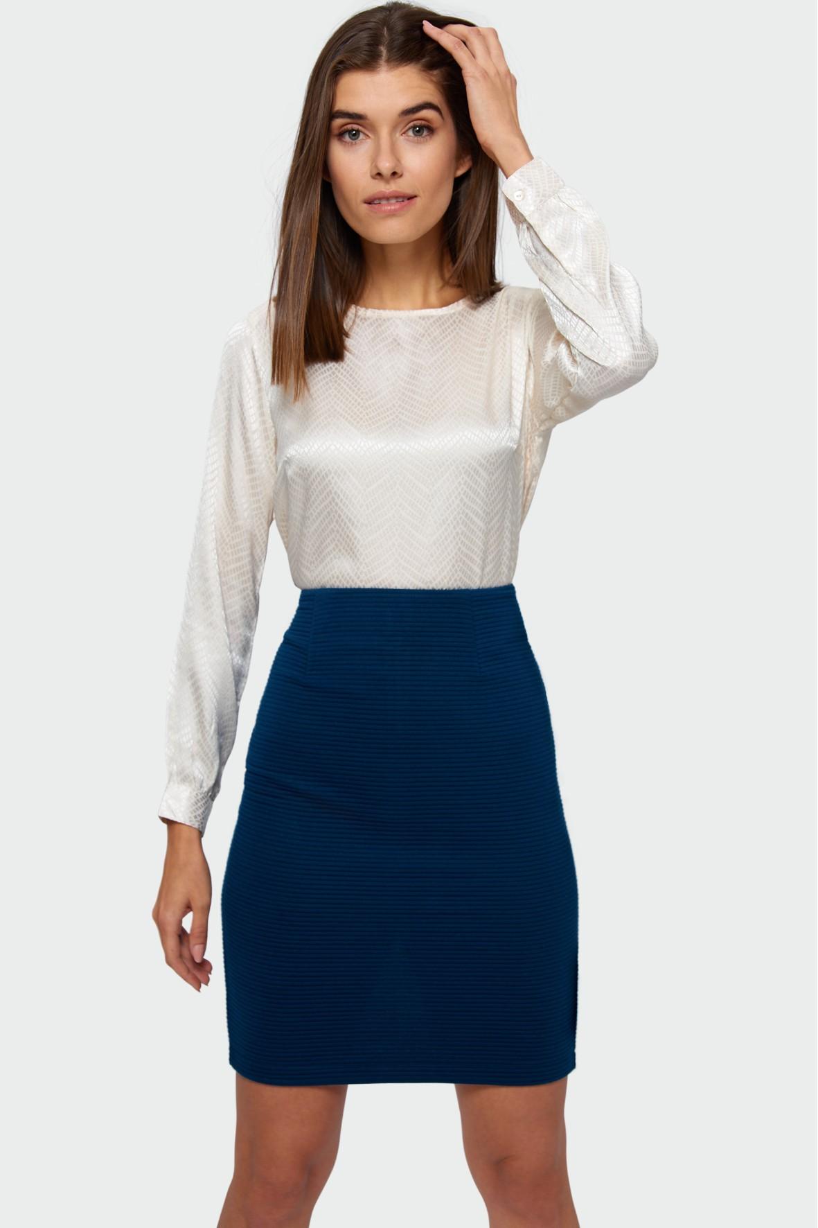 Elegancka bluzka - biała z długim rękawem