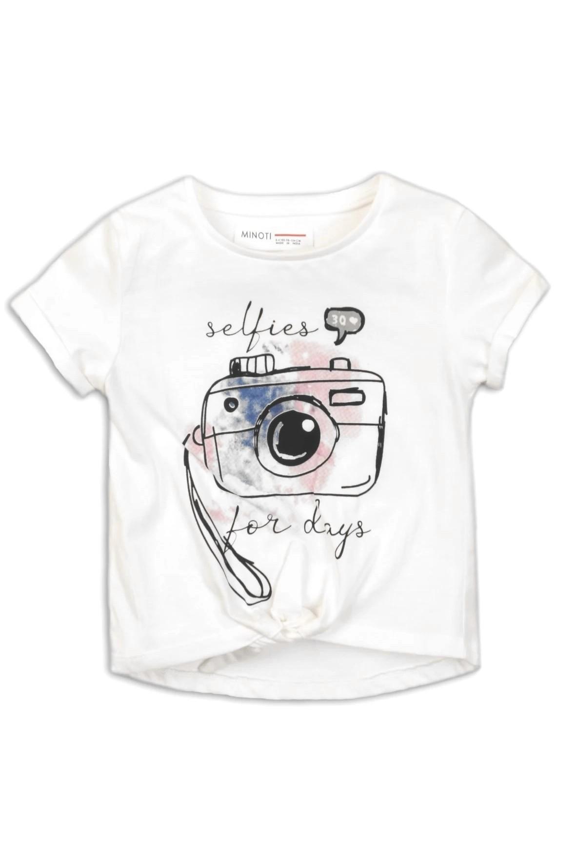 T-shirt dziewczęcy biały - Aparat